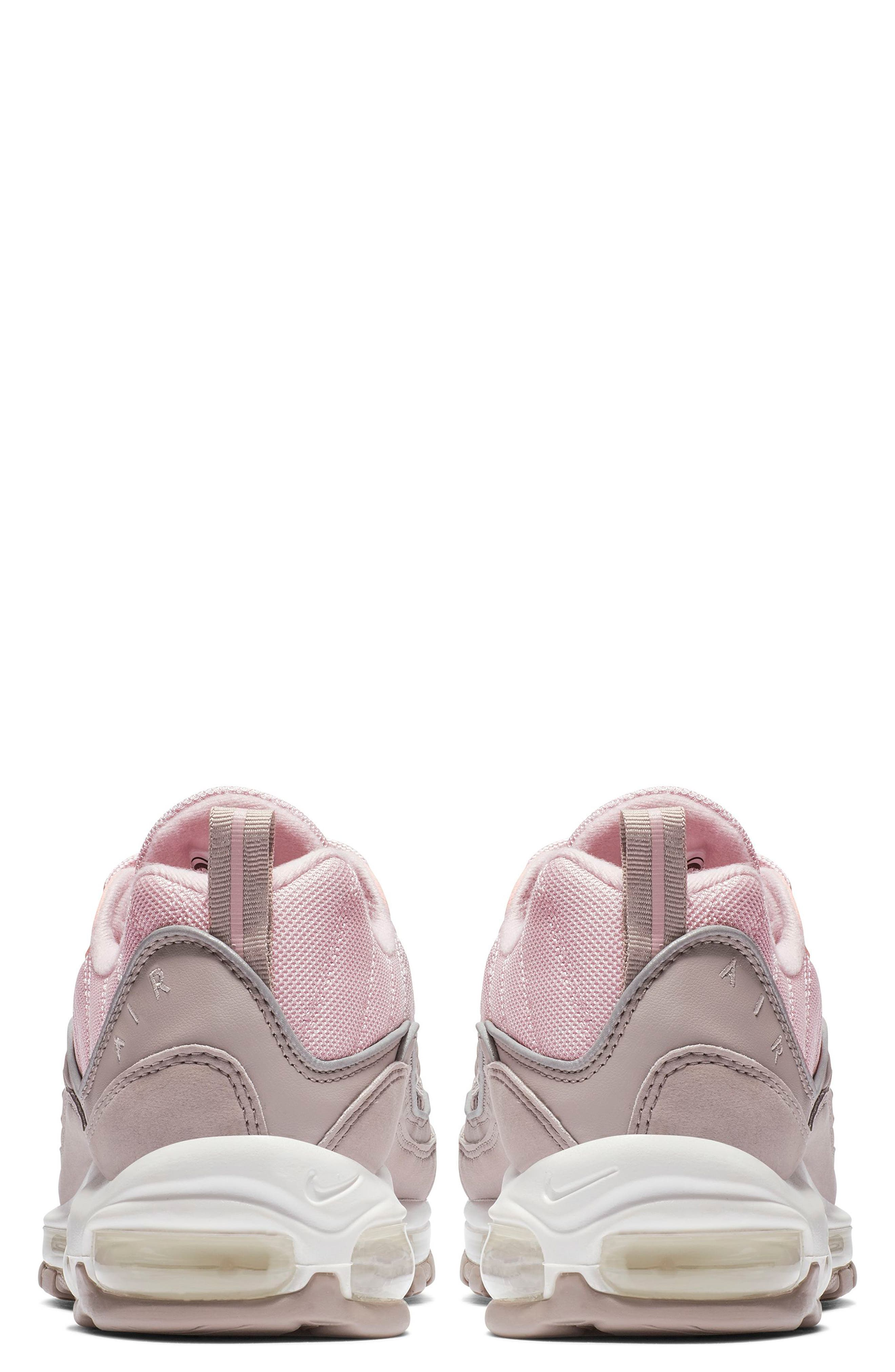 Air Max 98 Sneaker,                             Alternate thumbnail 2, color,                             PUMICE/ PLUM CHALK/ WHITE