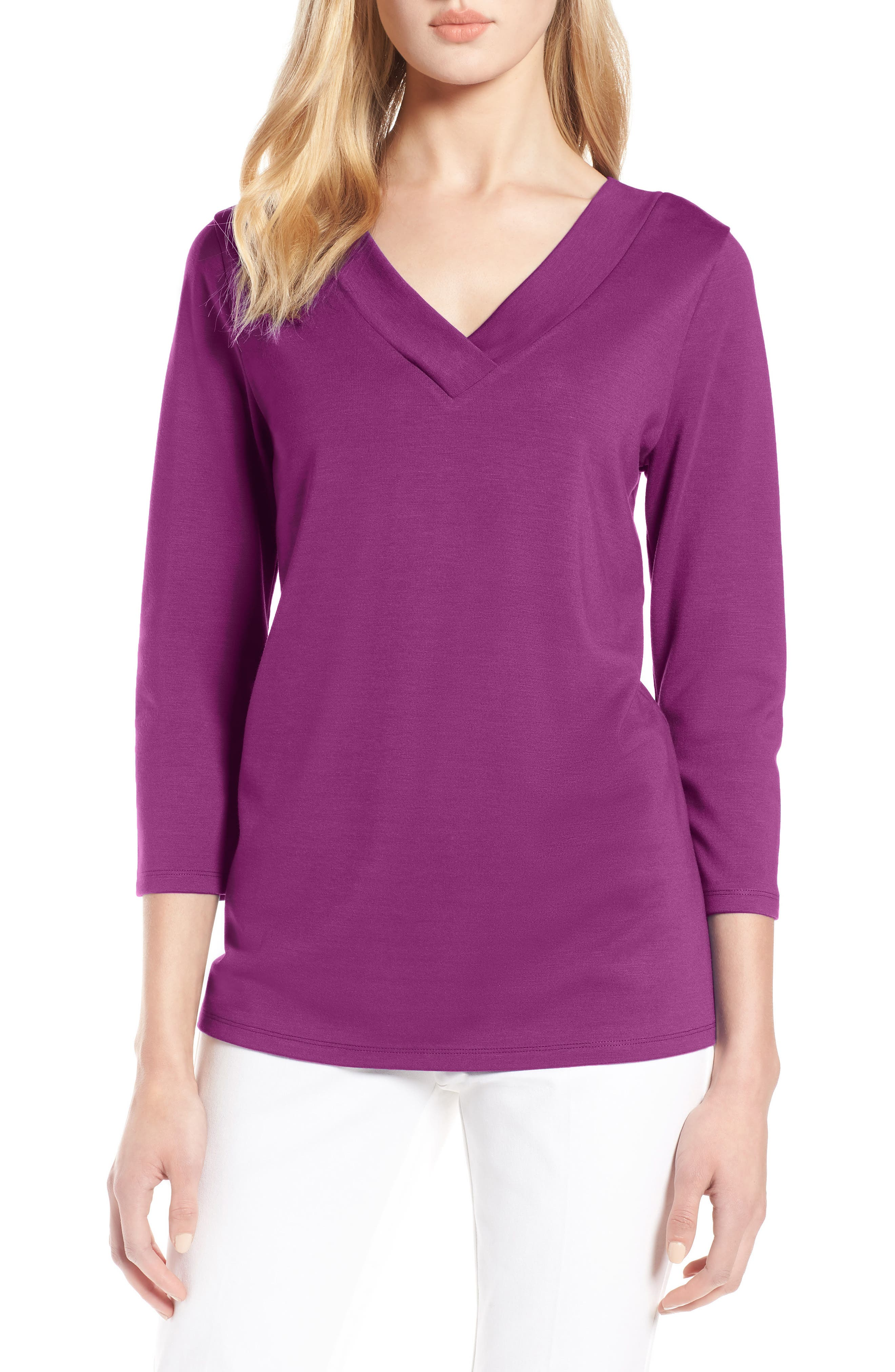V-Neck Tee,                         Main,                         color, 510