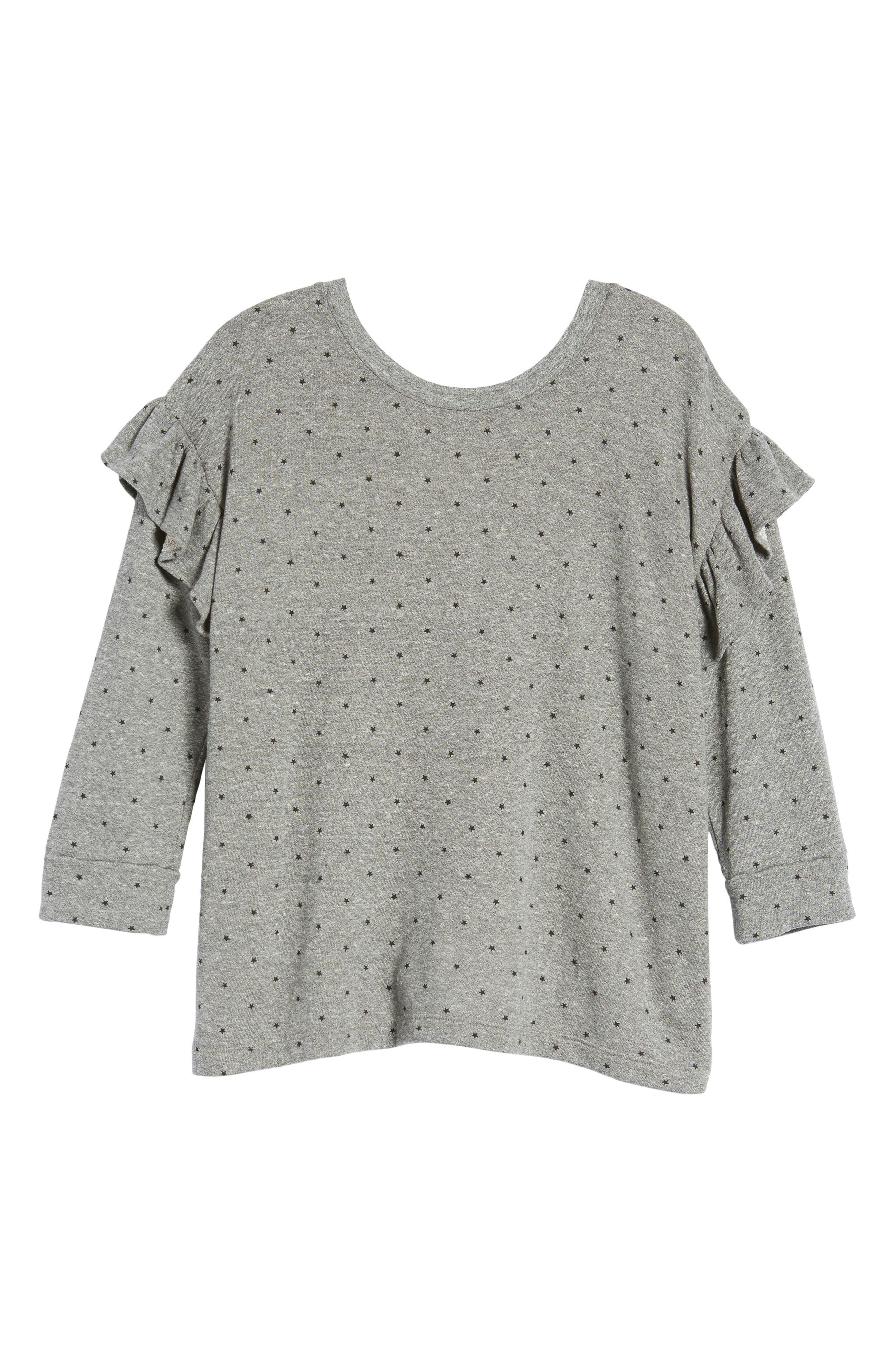 The Ruffle Sweatshirt,                             Alternate thumbnail 6, color,                             096