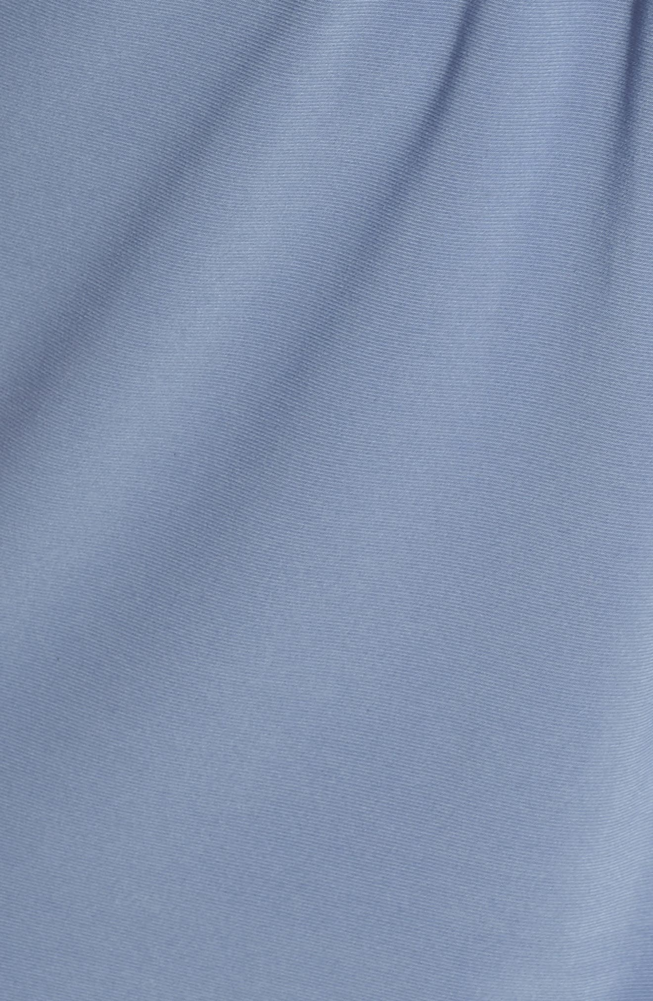 Knot Front Mixed Media Sheath Dress,                             Alternate thumbnail 6, color,