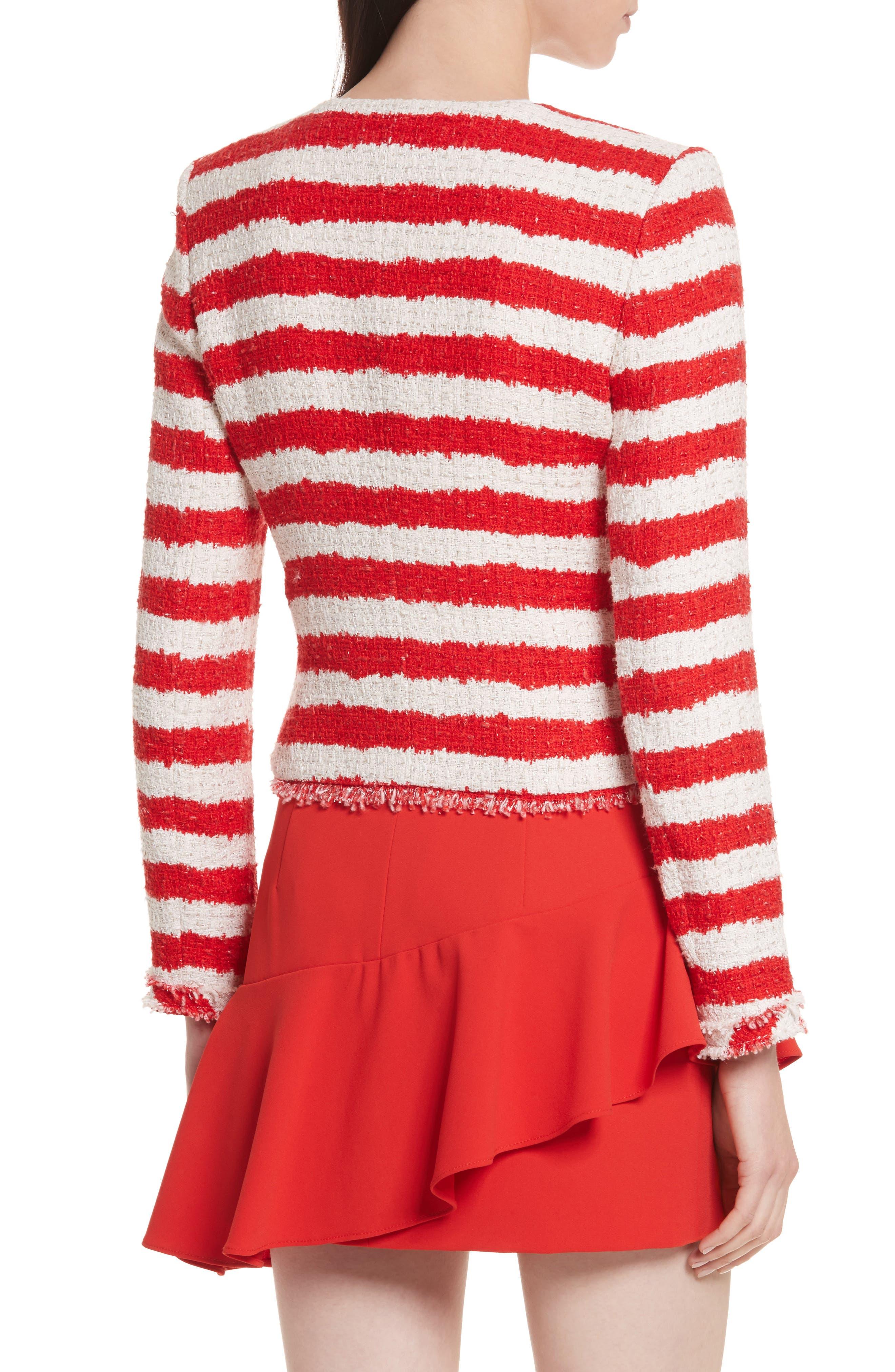 Stanton Stripe Tweed Jacket,                             Alternate thumbnail 2, color,
