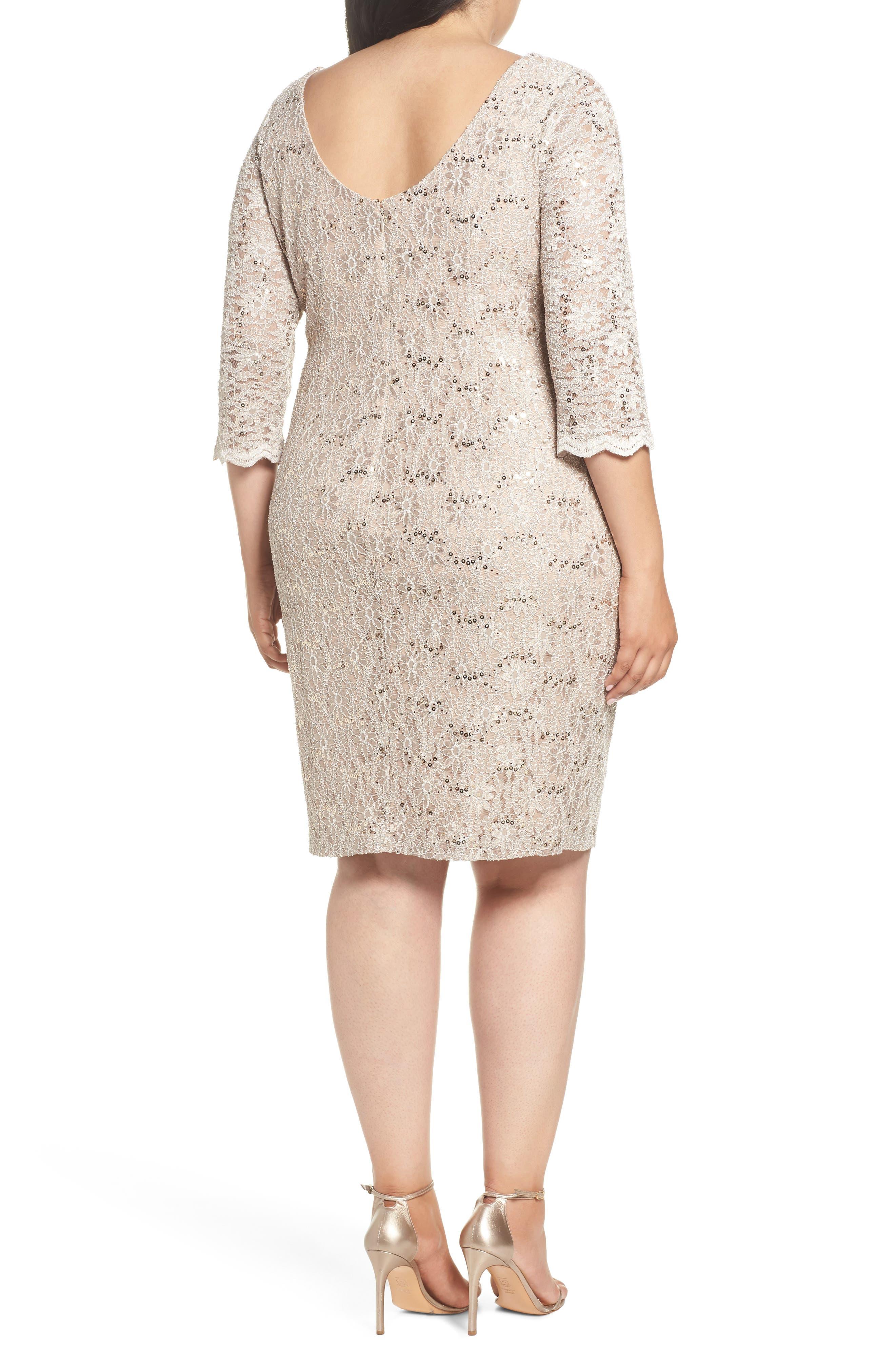 Embellished Illusion Lace Shift Dress,                             Alternate thumbnail 2, color,                             250