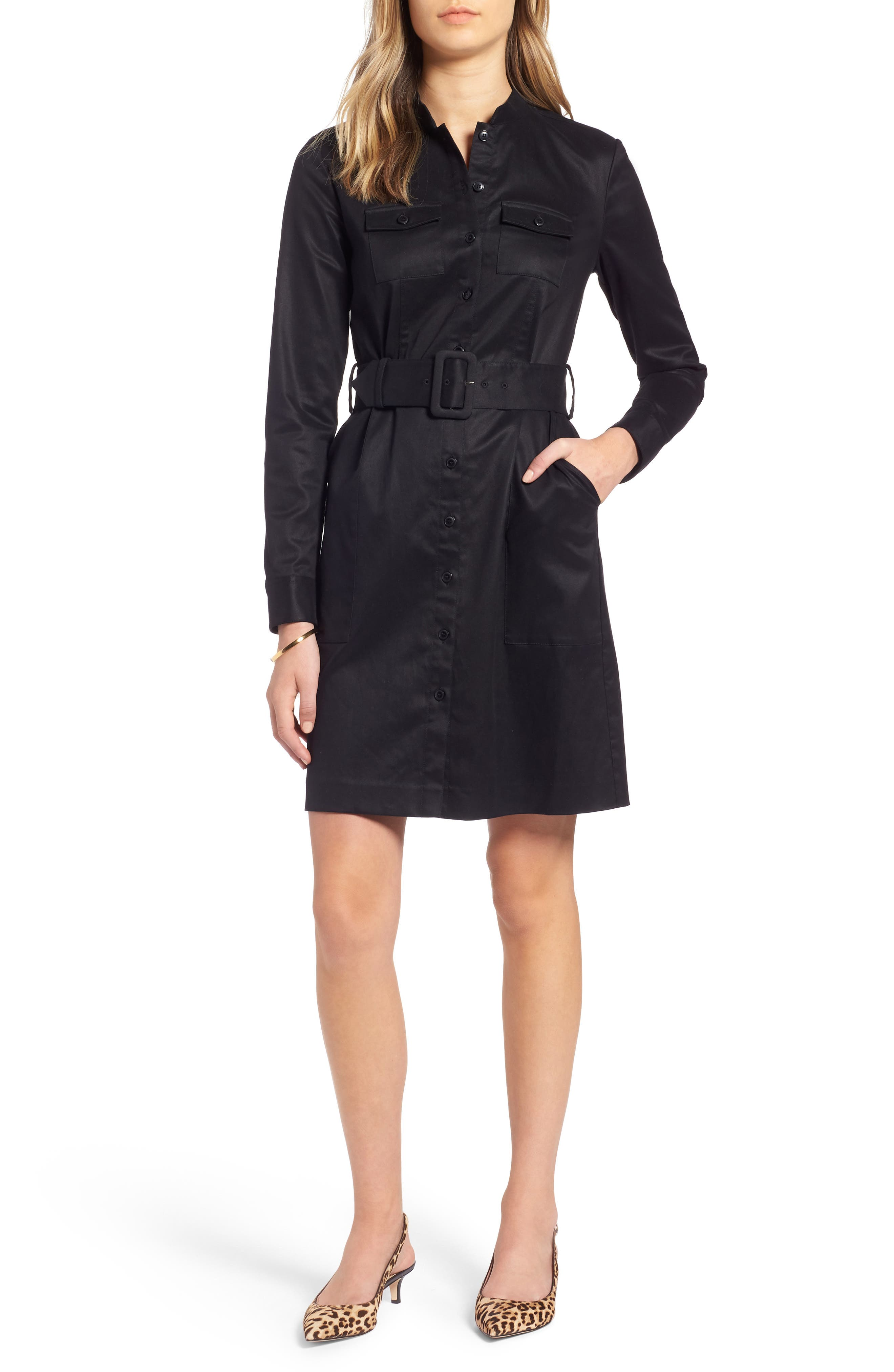 Utility Shirtdress,                         Main,                         color, 001