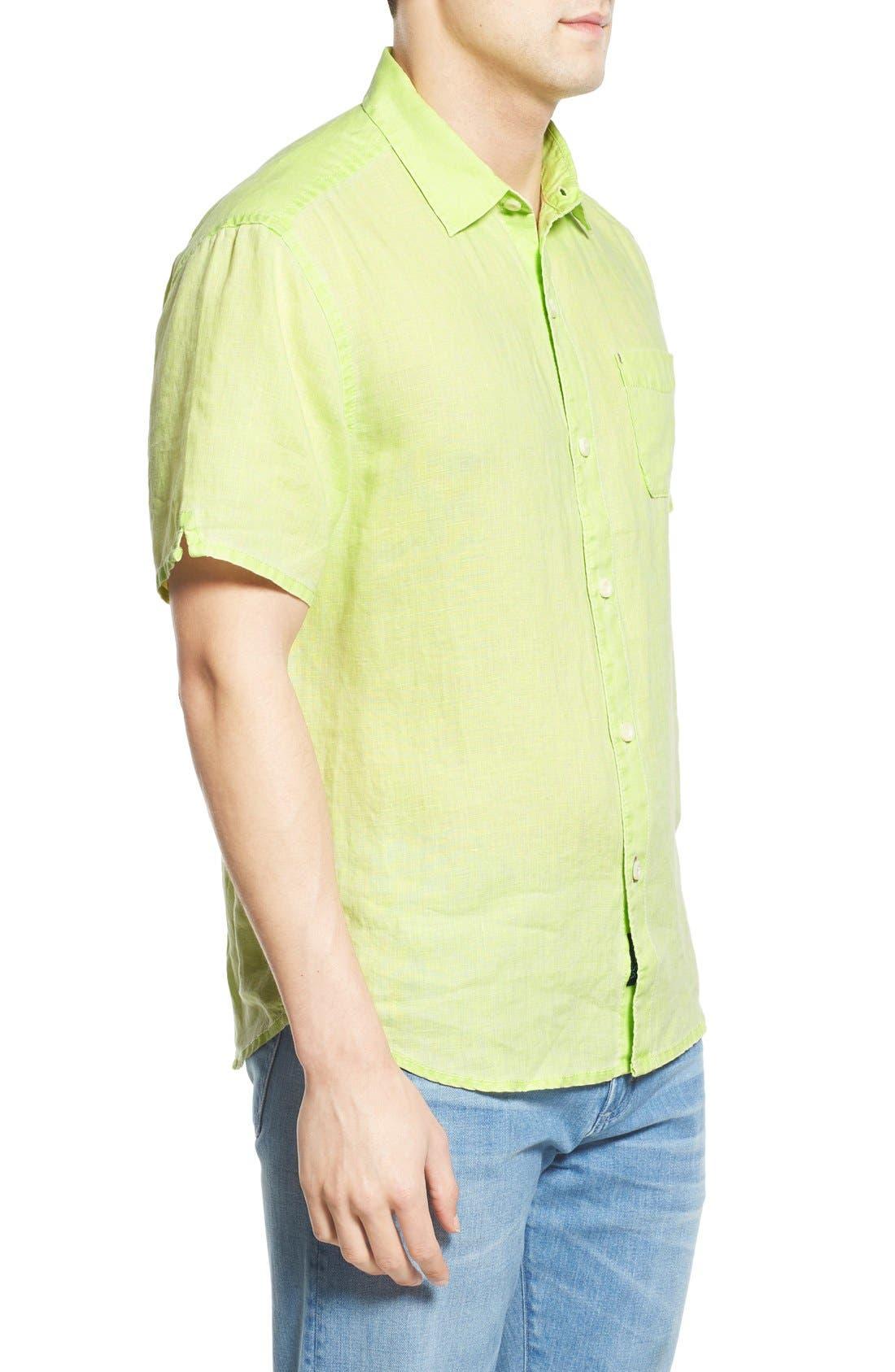 Seaglass Breezer Short Sleeve Linen Sport Shirt,                             Alternate thumbnail 32, color,