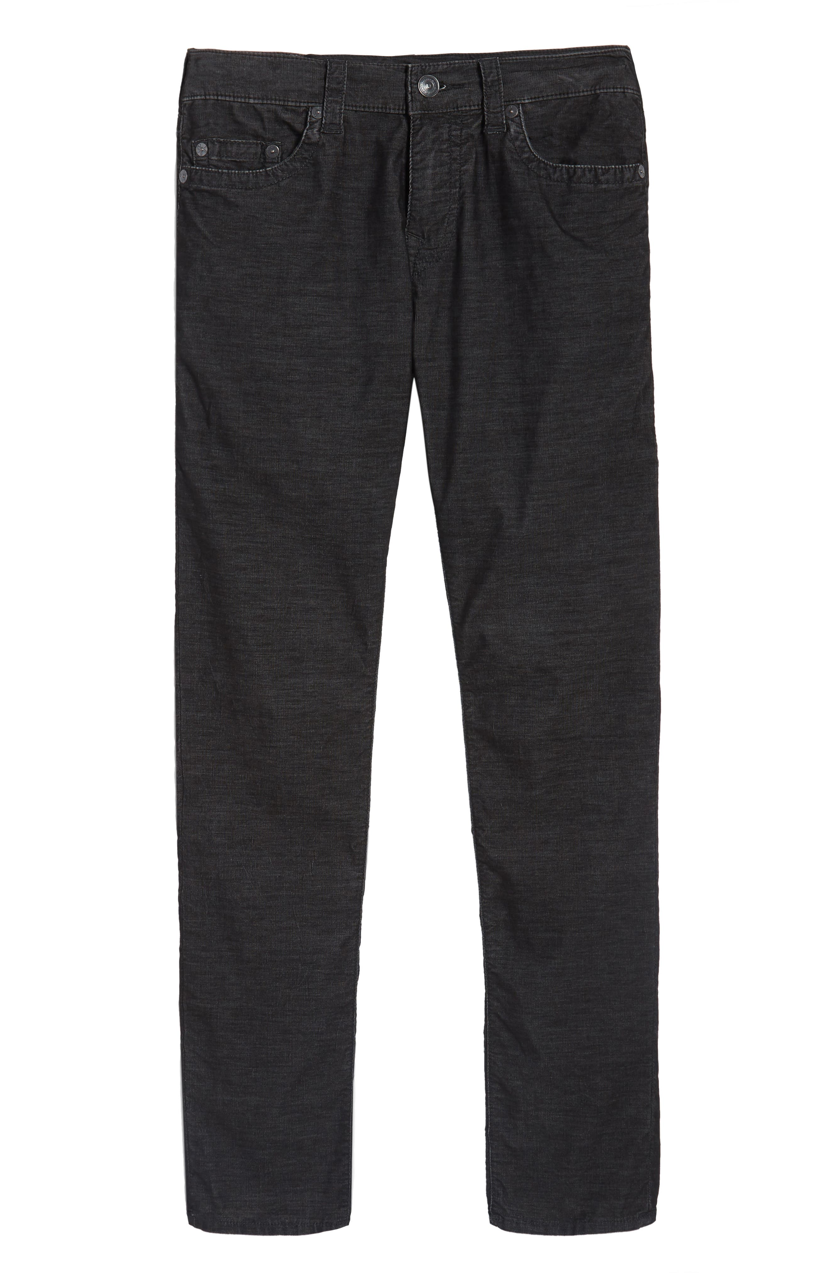 Rocco Skinny Fit Corduroy Jeans,                             Alternate thumbnail 6, color,                             001