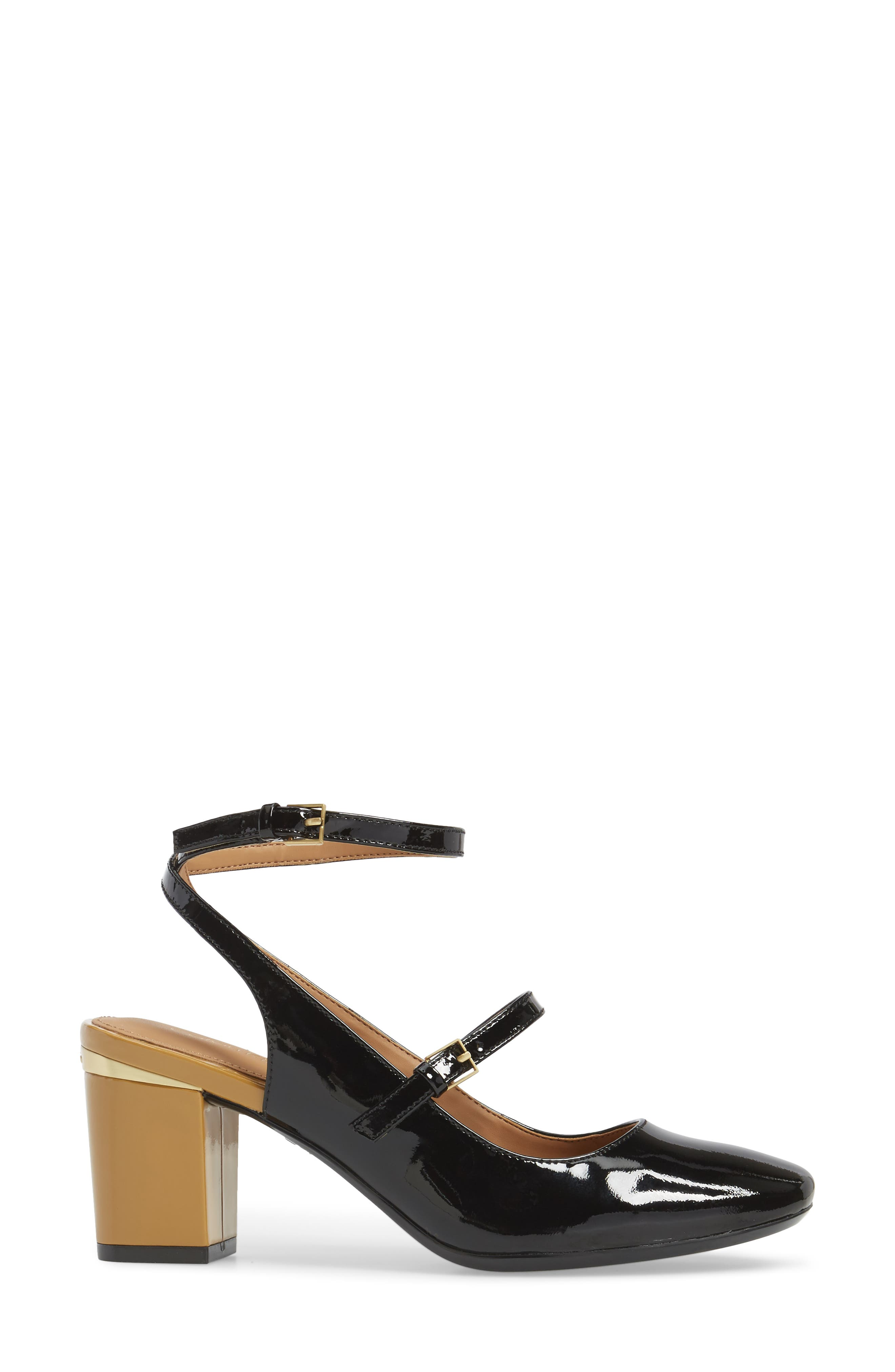 Cleary Wraparound Mary Jane Pump,                             Alternate thumbnail 3, color,                             001
