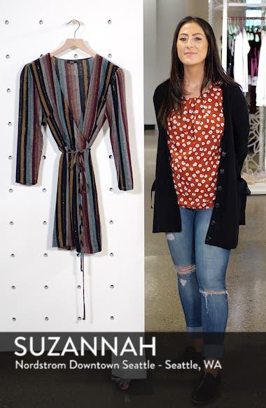Lola Metallic Wrap Dress, sales video thumbnail