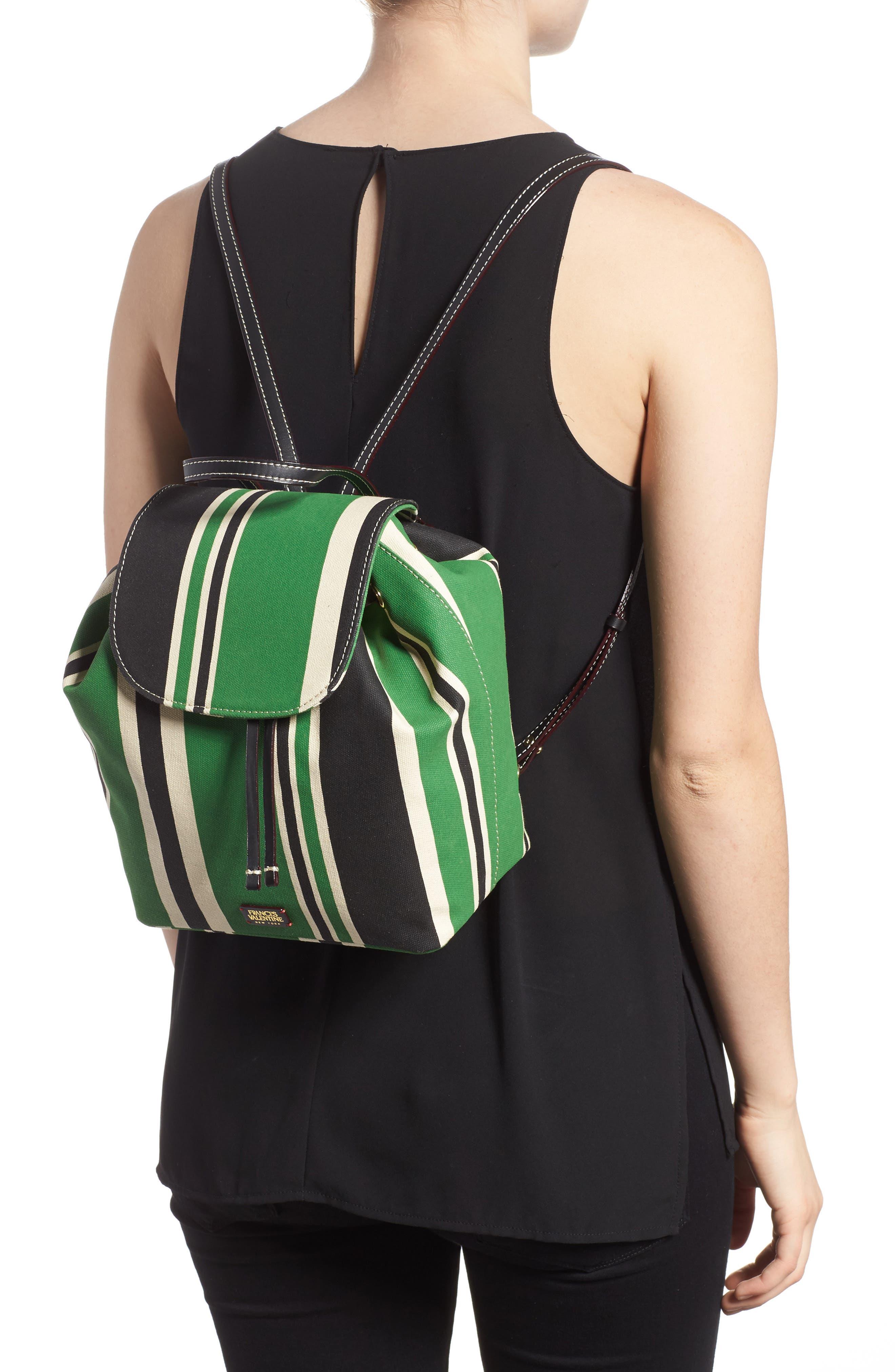 Ann Stripe Canvas Drawstring Backpack,                             Alternate thumbnail 2, color,                             300
