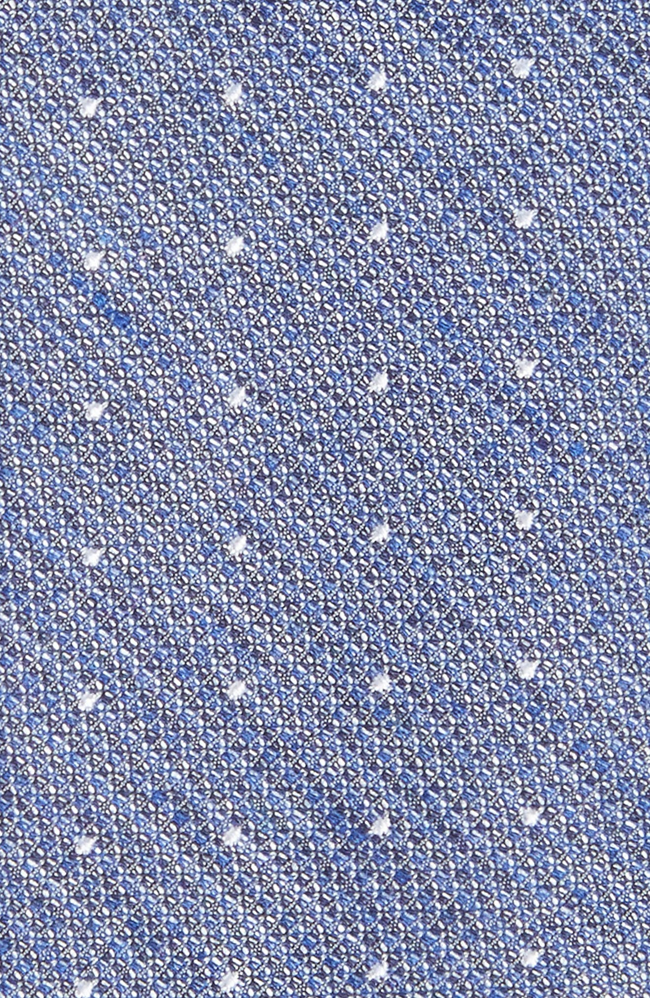 Dot Silk Blend Skinny Tie,                             Alternate thumbnail 2, color,                             100