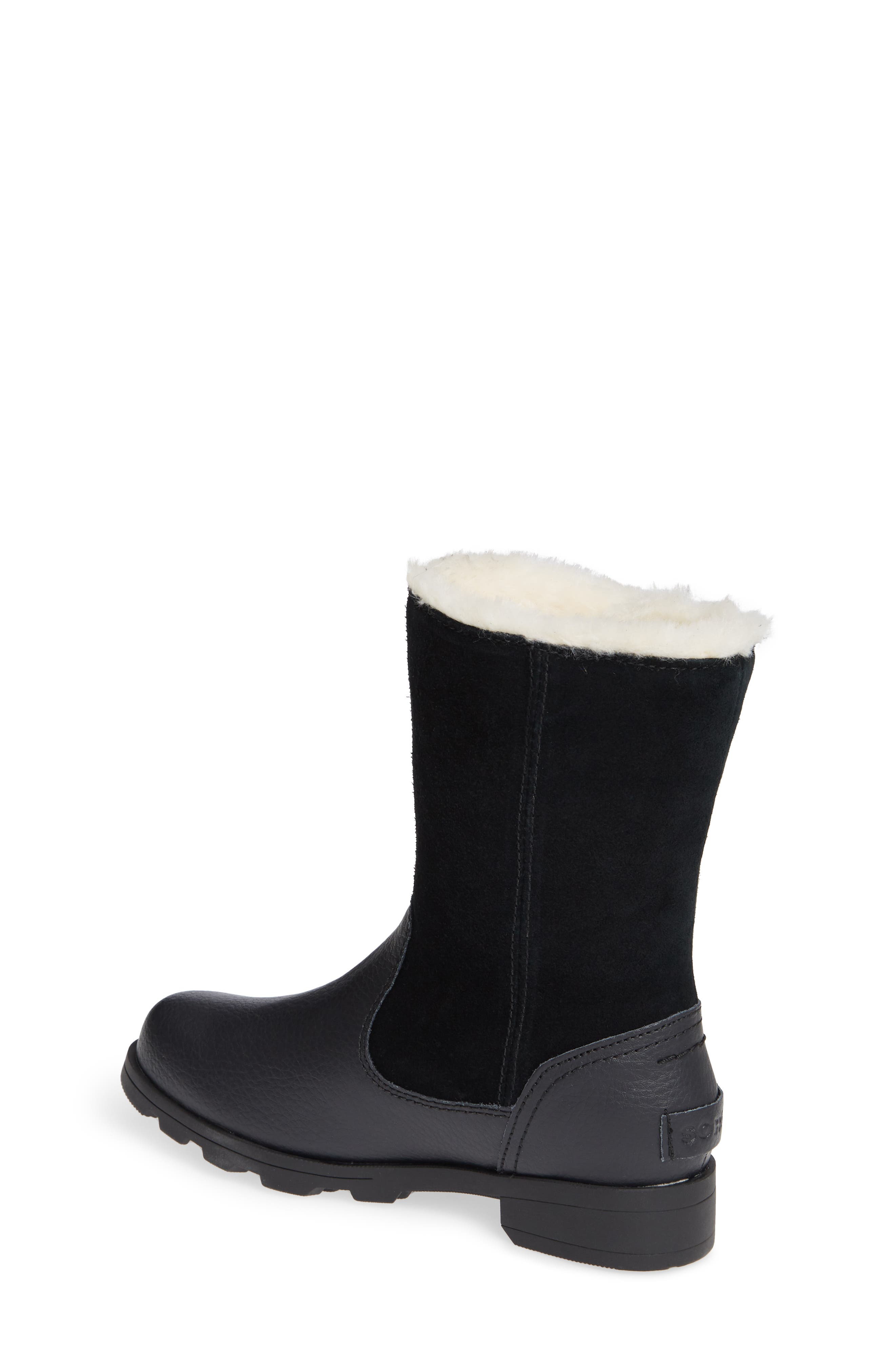 Emelie Waterproof Faux Fur Lined Boot,                             Alternate thumbnail 2, color,                             010