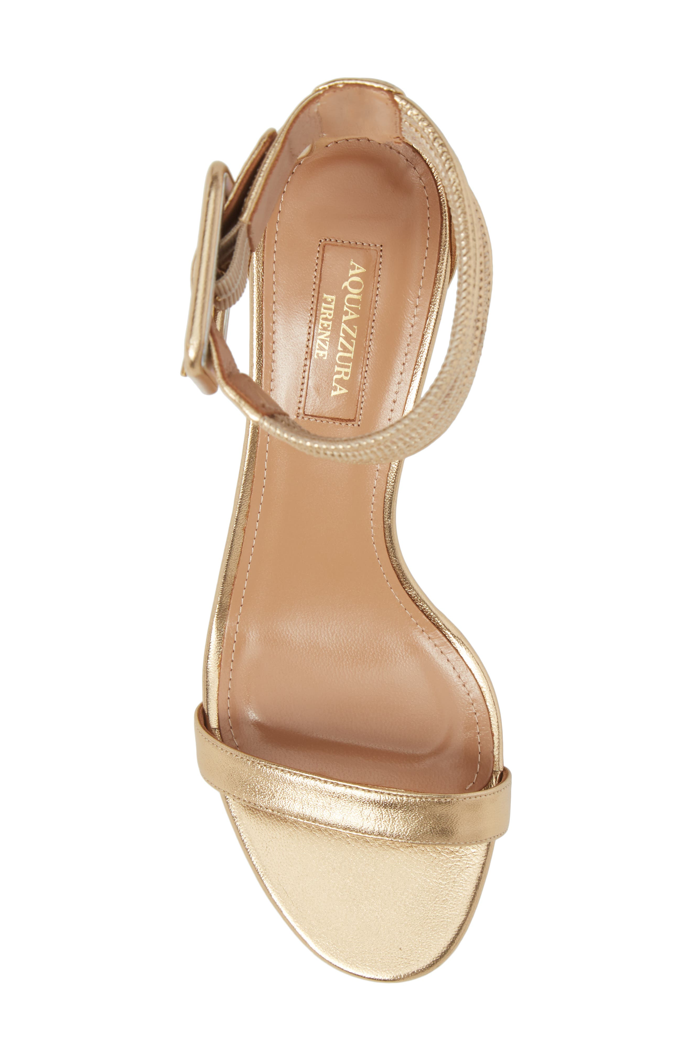 Casablanca Ankle Cuff Sandal,                             Alternate thumbnail 5, color,                             SOFT GOLD