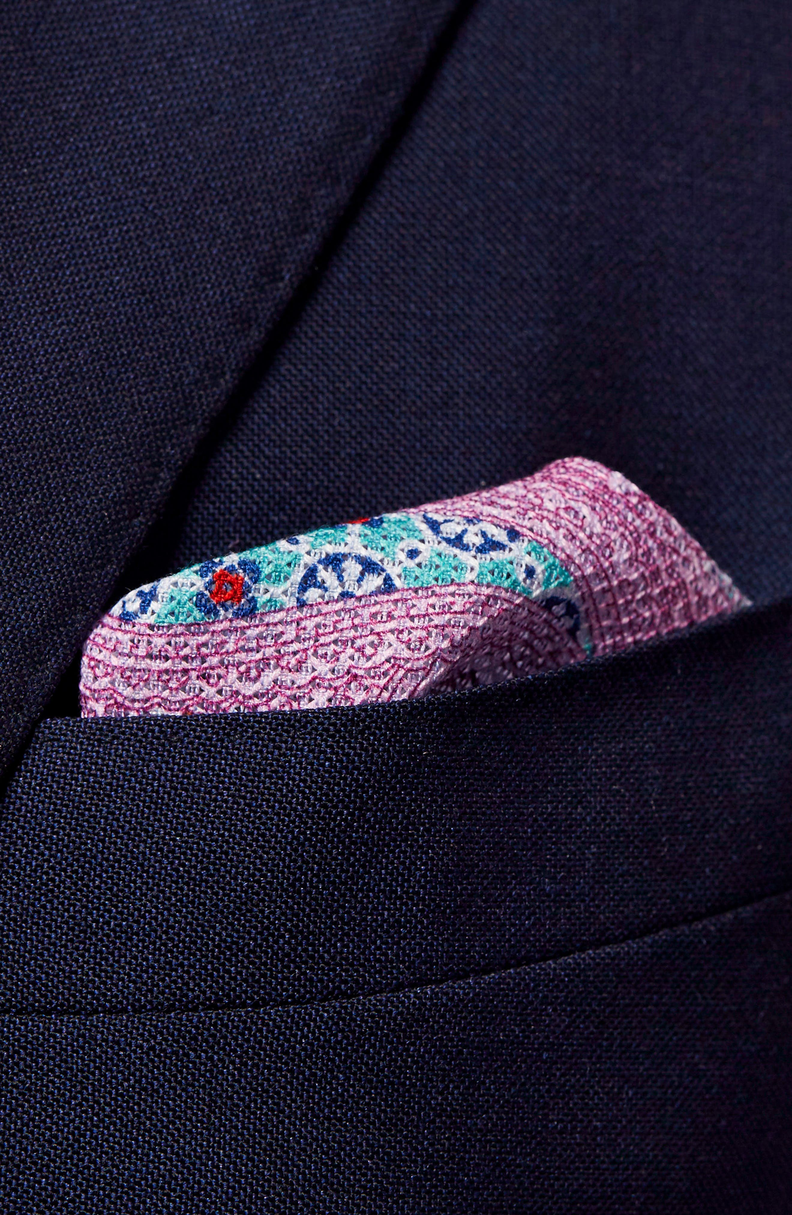 Paisley Cotton Pocket Square,                             Alternate thumbnail 6, color,