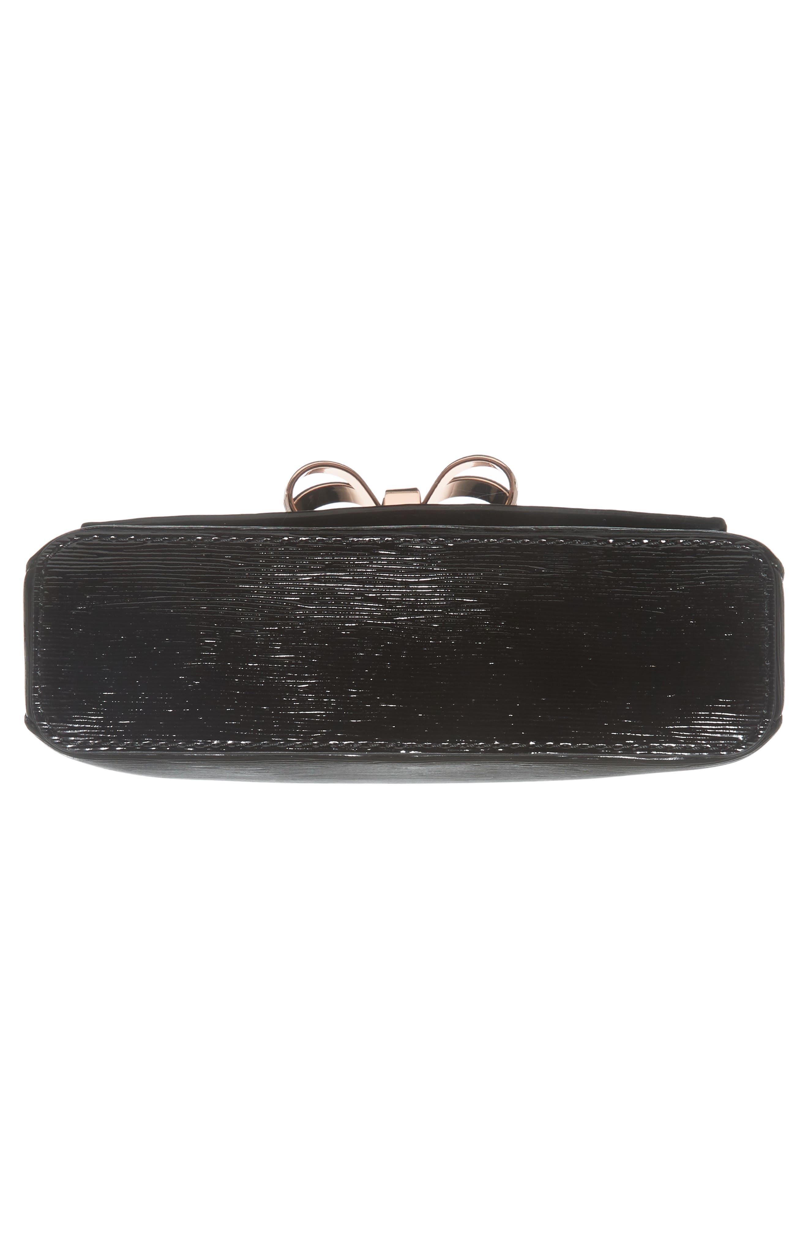 Loopa Bow Mini Leather Crossbody Bag,                             Alternate thumbnail 11, color,