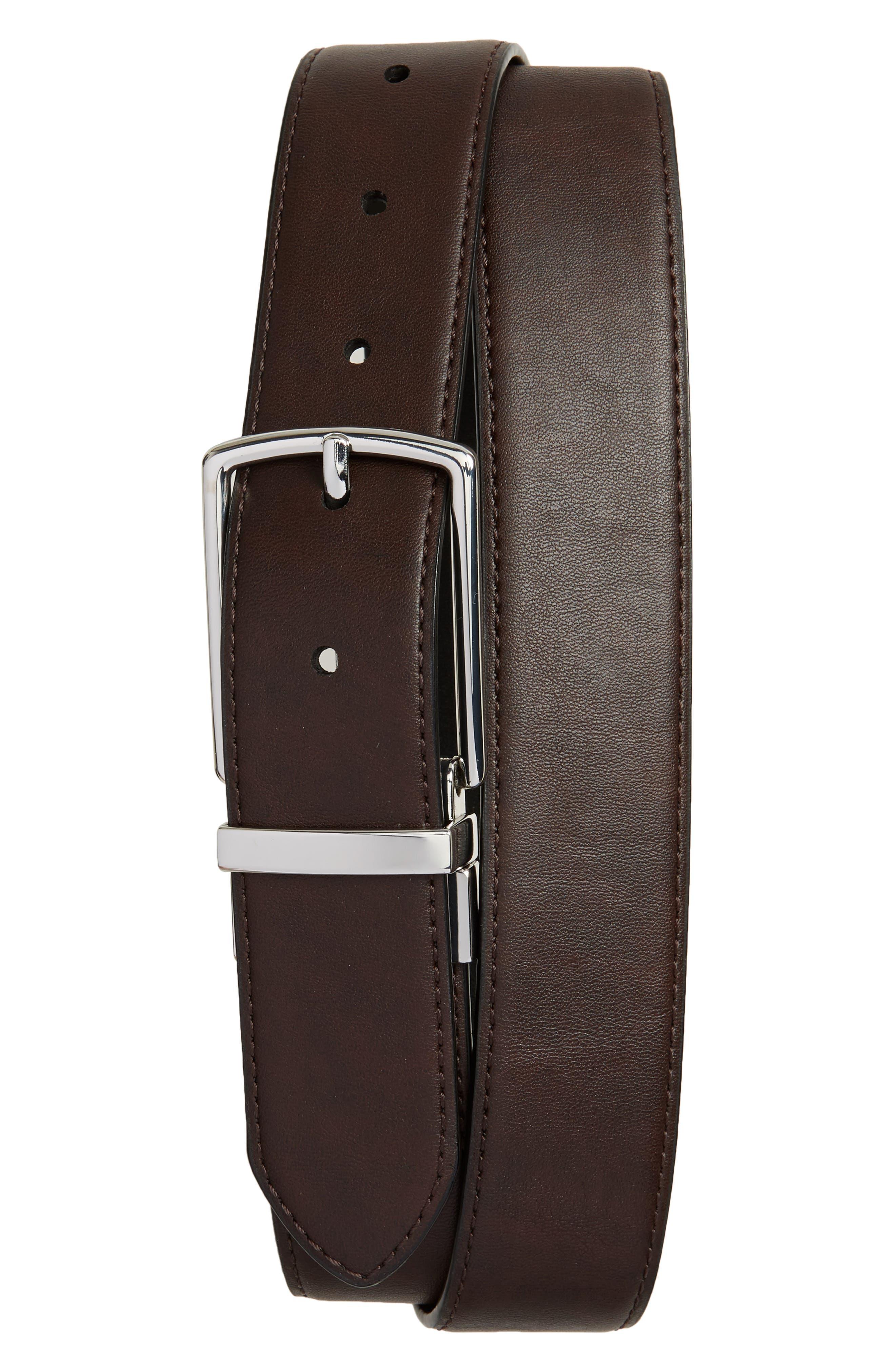 Preston Reversible Leather Belt,                             Alternate thumbnail 2, color,                             001