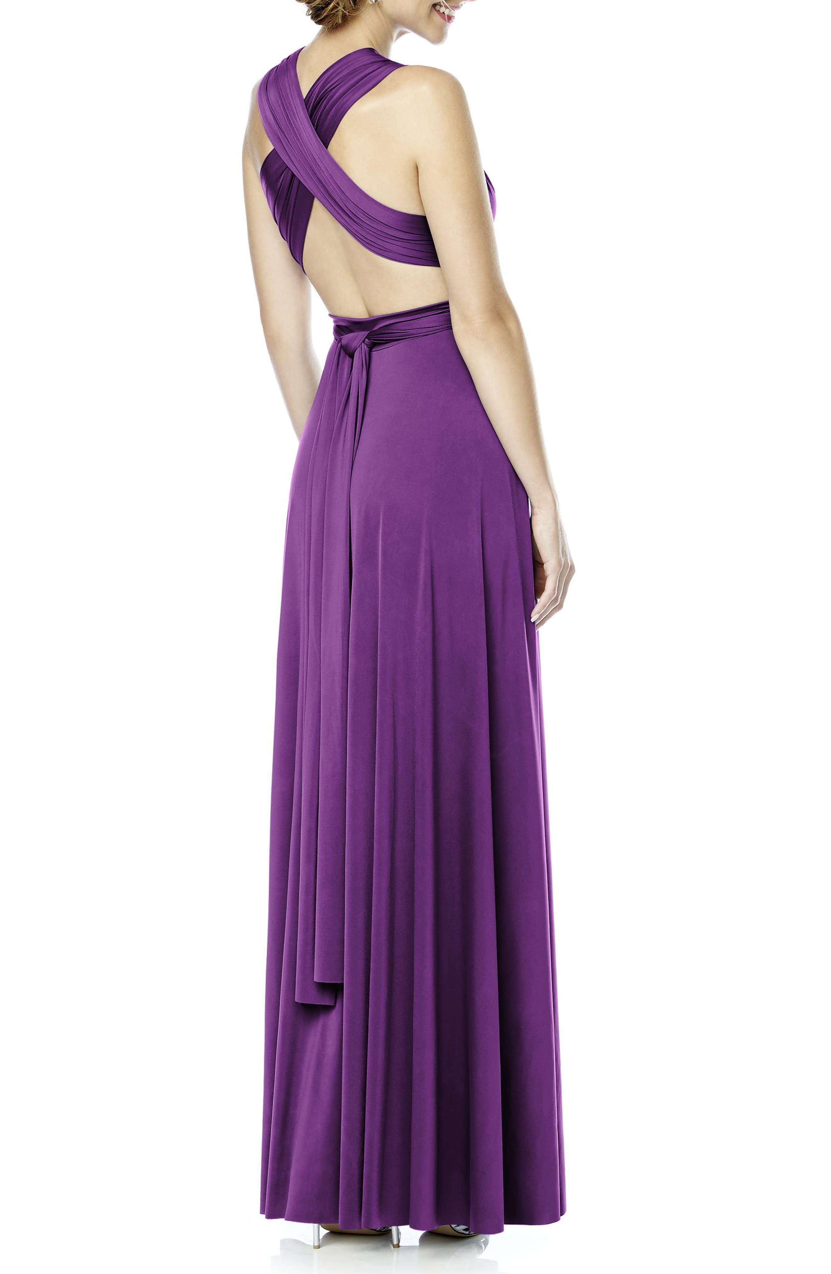 Convertible Wrap Tie Surplice Jersey Gown,                             Alternate thumbnail 30, color,