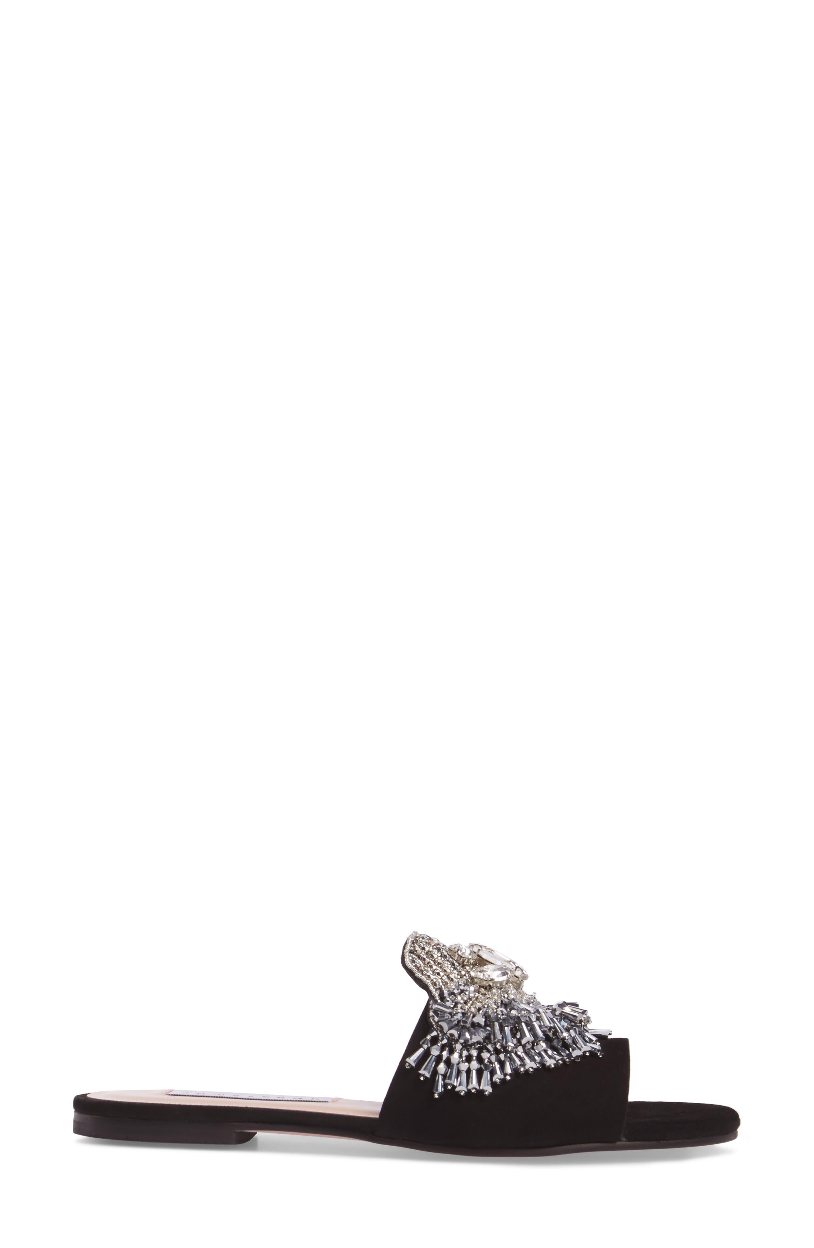 Jallie Crystal Embellished Slide,                             Alternate thumbnail 3, color,                             001
