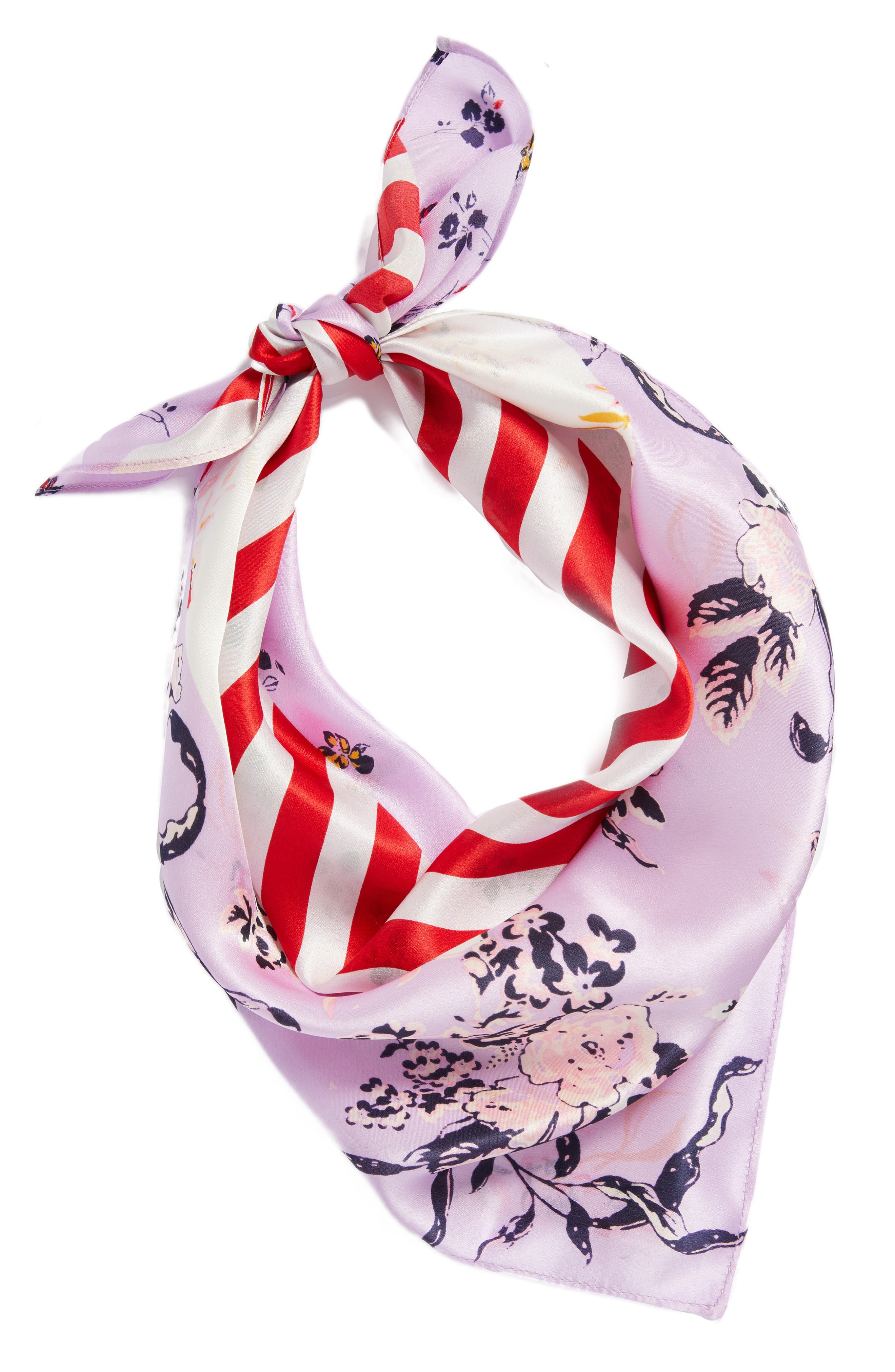 Print Silk Scarf,                             Alternate thumbnail 14, color,