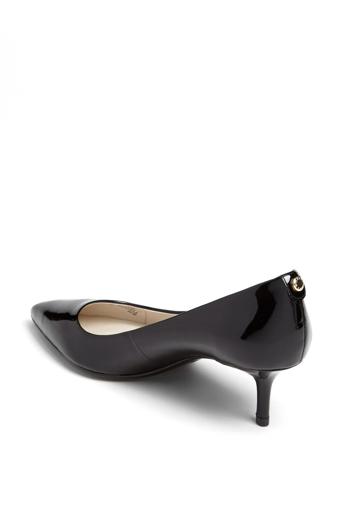 Kitten Heel Pump,                             Alternate thumbnail 4, color,                             BLACK