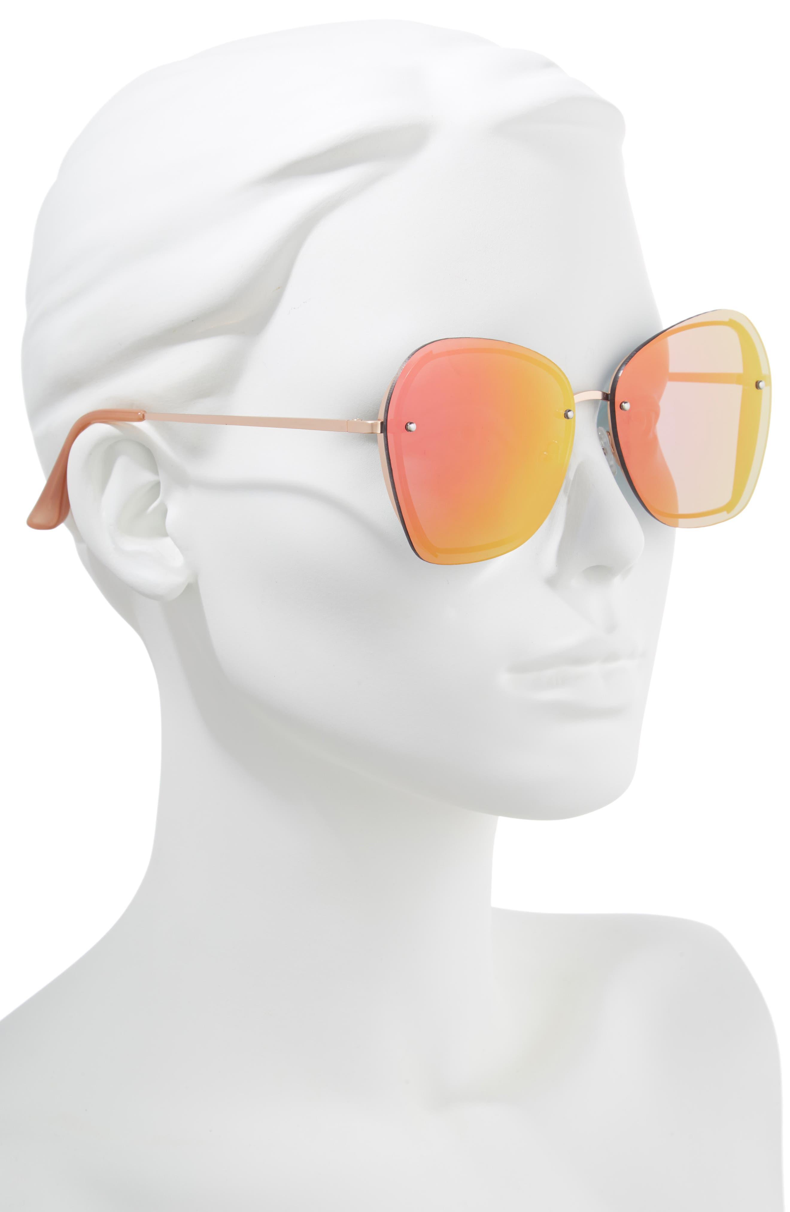 LEITH,                             61mm Rimless Square Sunglasses,                             Alternate thumbnail 2, color,                             710