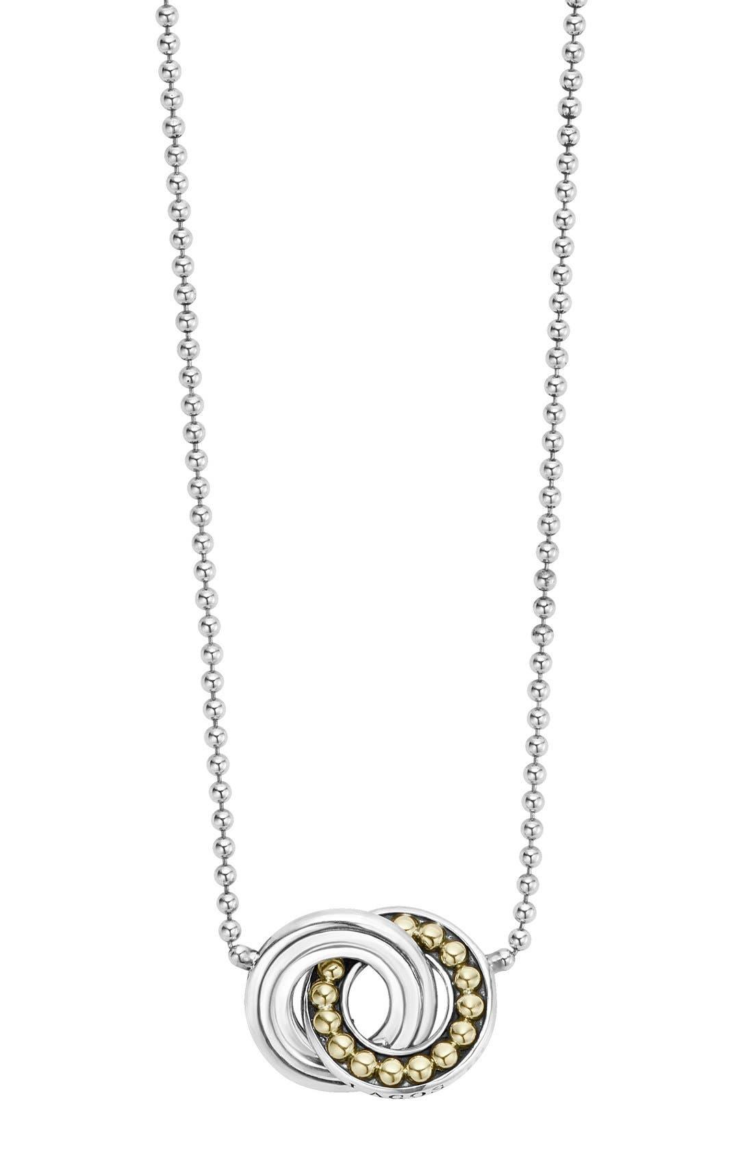 Enso Pendant Necklace,                         Main,                         color, SILVER/ PEARL