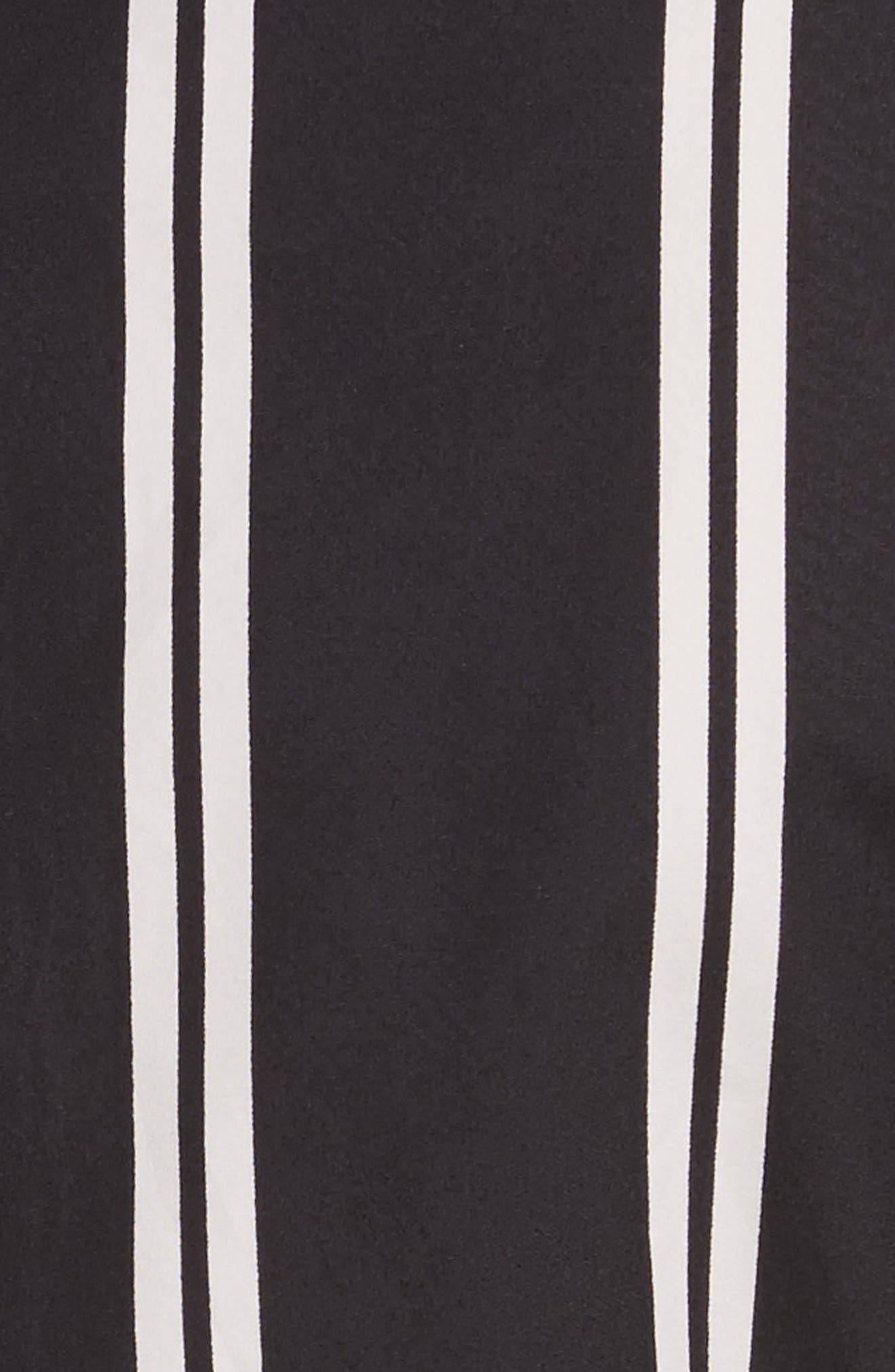 Iliana Stripe Fit & Flare Dress,                             Alternate thumbnail 5, color,                             002