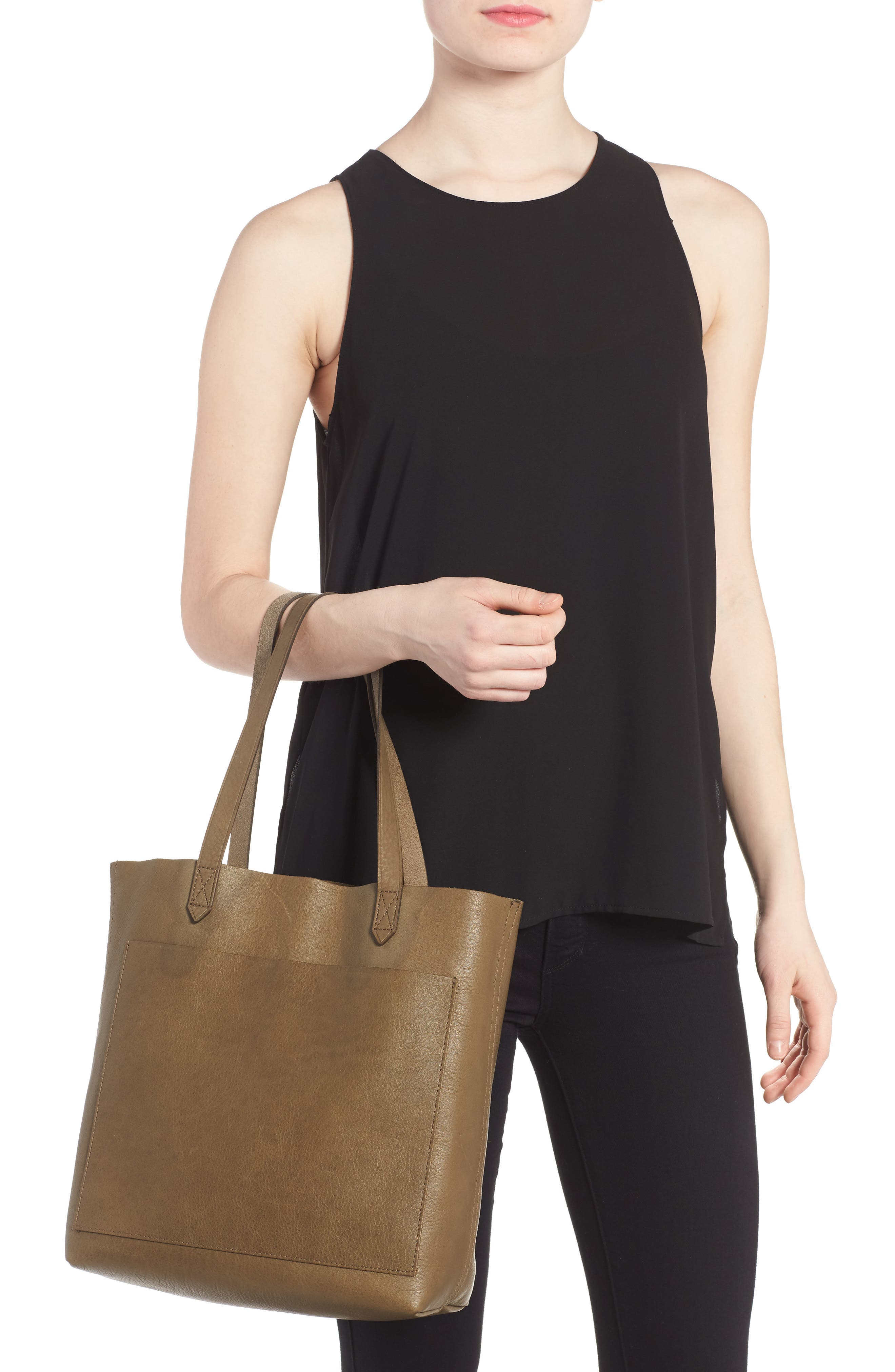 Medium Leather Transport Tote,                             Alternate thumbnail 31, color,
