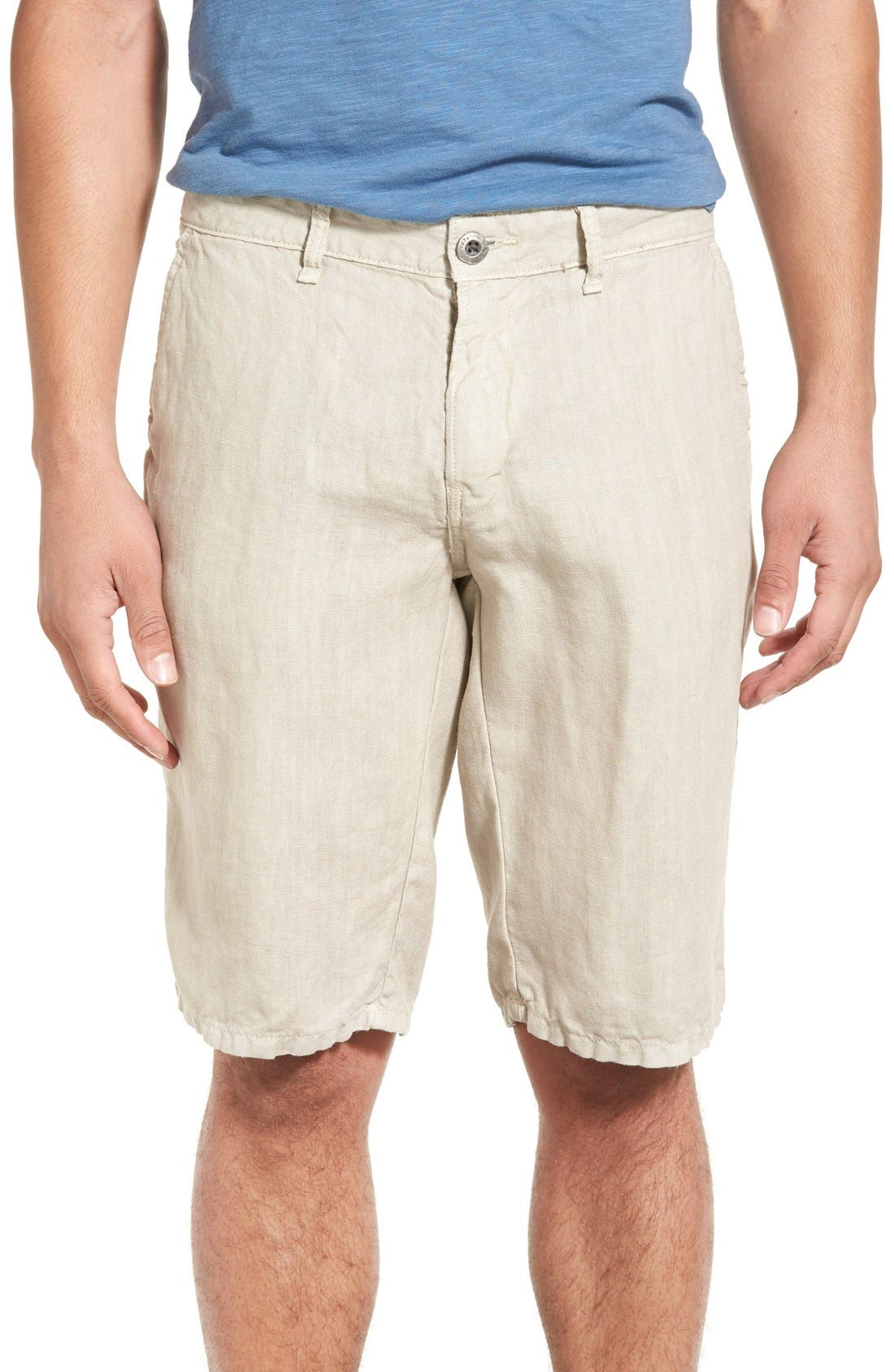 'Havana' Linen Shorts,                             Main thumbnail 7, color,