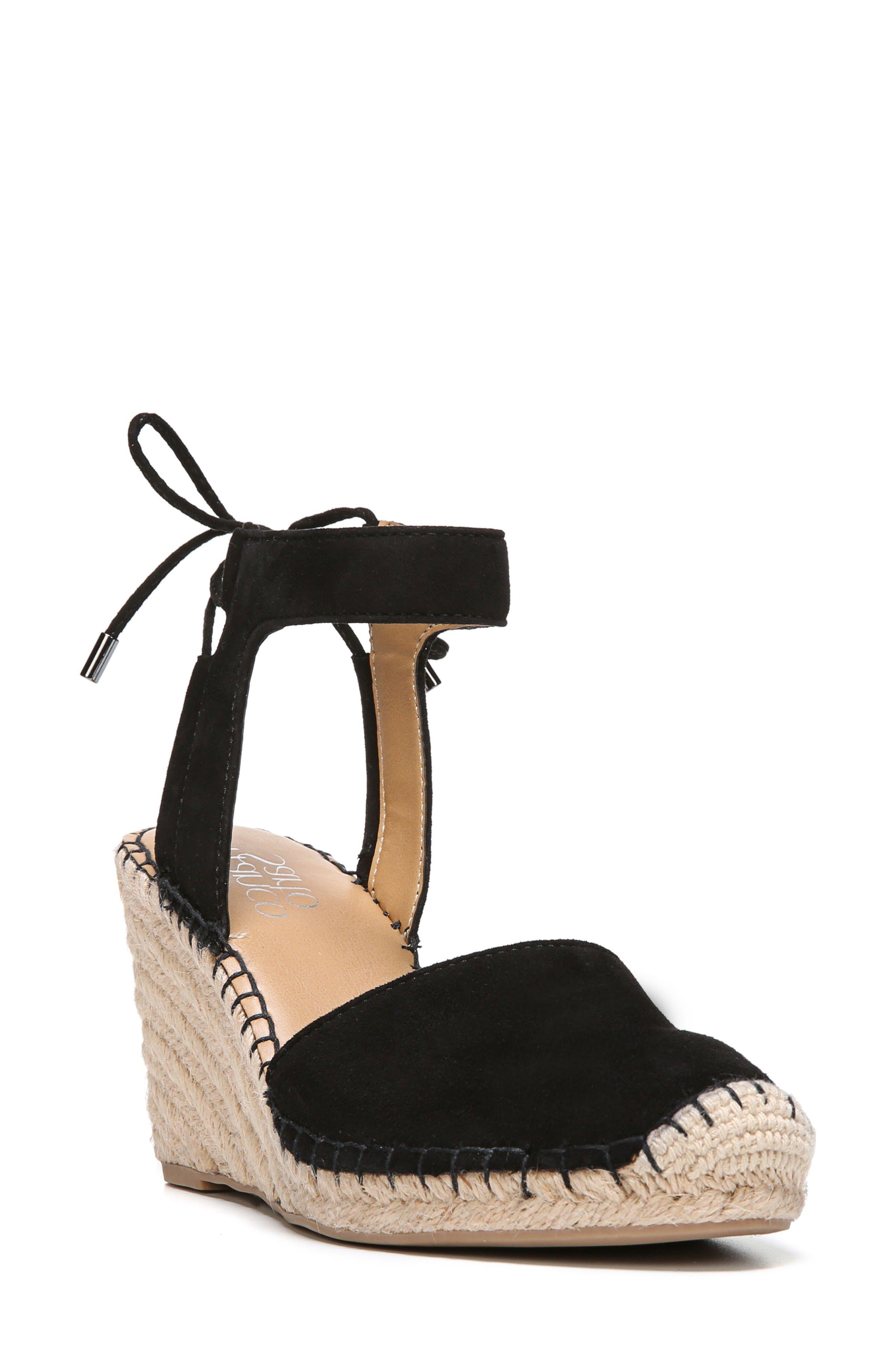 Mariska Espadrille Wedge Sandal,                             Main thumbnail 1, color,                             002