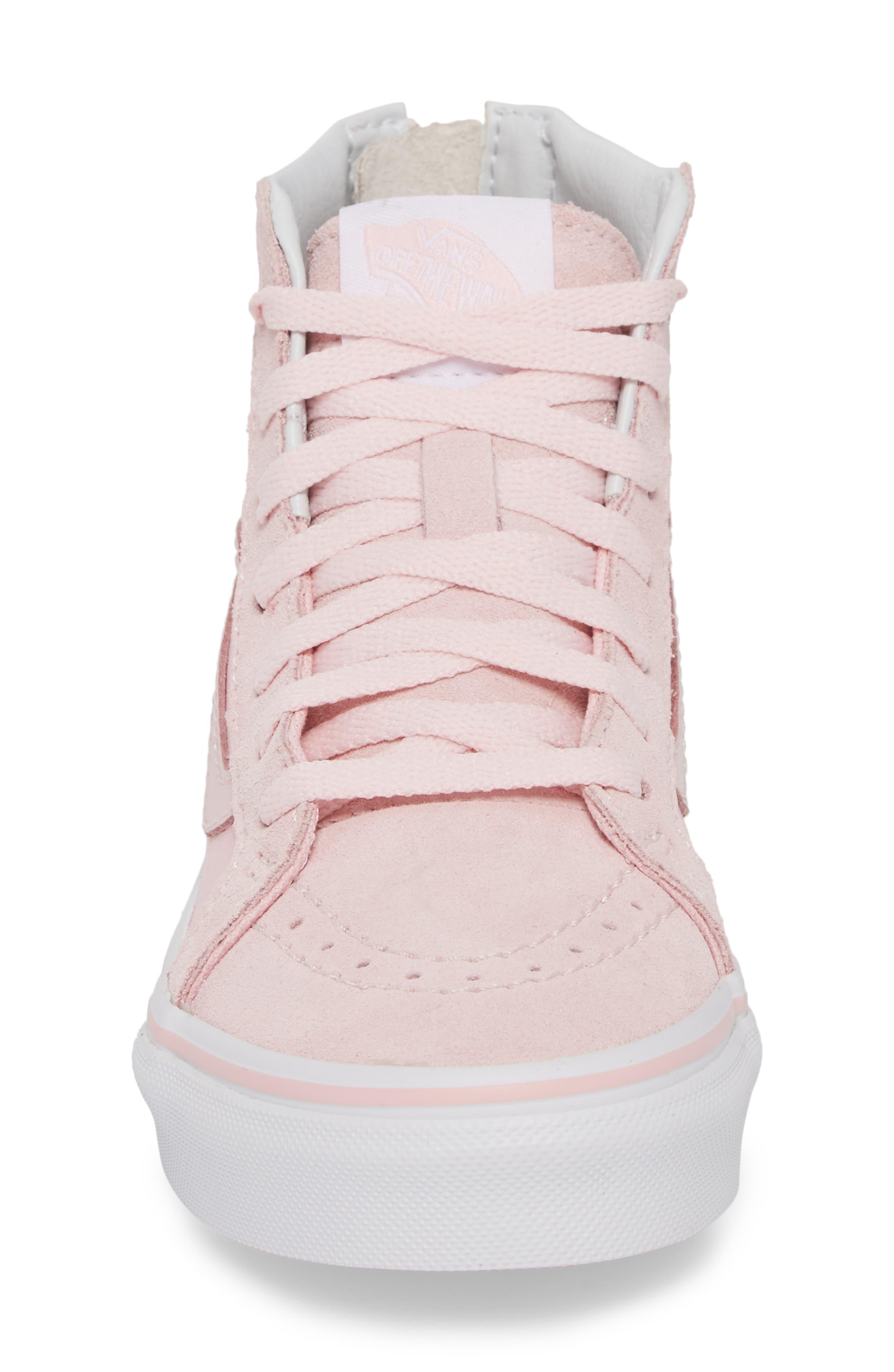 Sk8-Hi Zip Sneaker,                             Alternate thumbnail 4, color,                             CHALK PINK/ TRUE WHITE