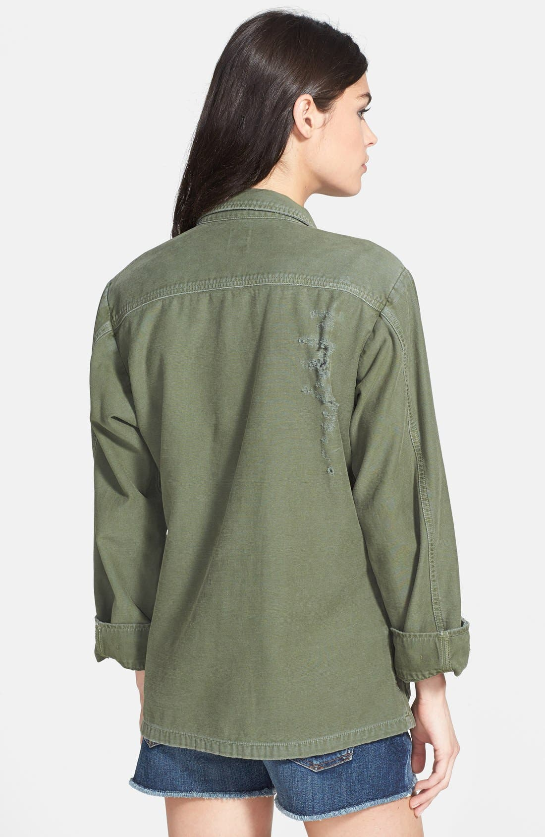CITIZENS OF HUMANITY,                             'Kylie' Distressed Military Jacket,                             Alternate thumbnail 2, color,                             369