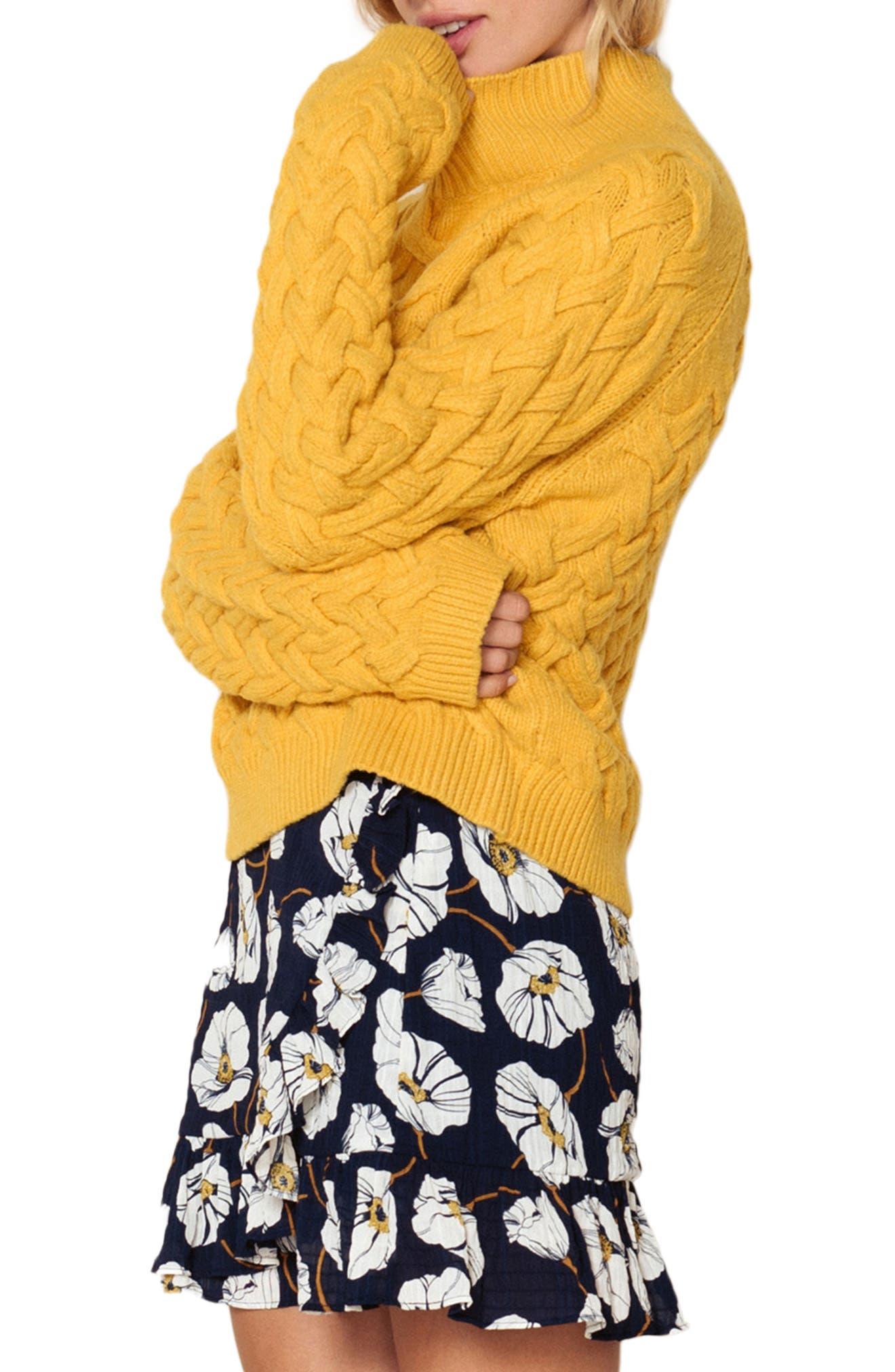 Adele Sweater,                             Alternate thumbnail 3, color,                             BUTTERSCOTCH