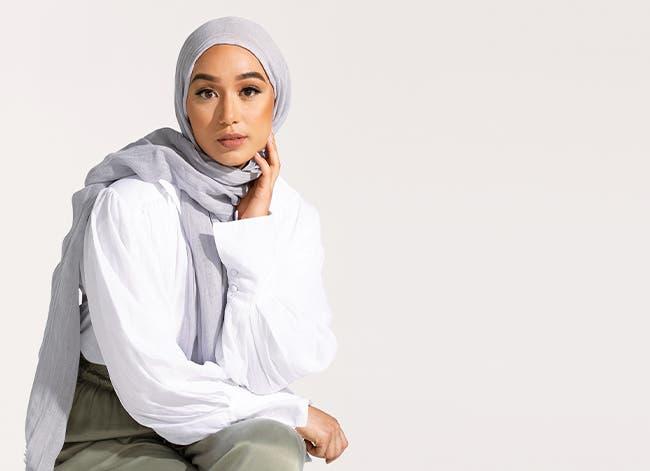 Woman wearing a hijab.