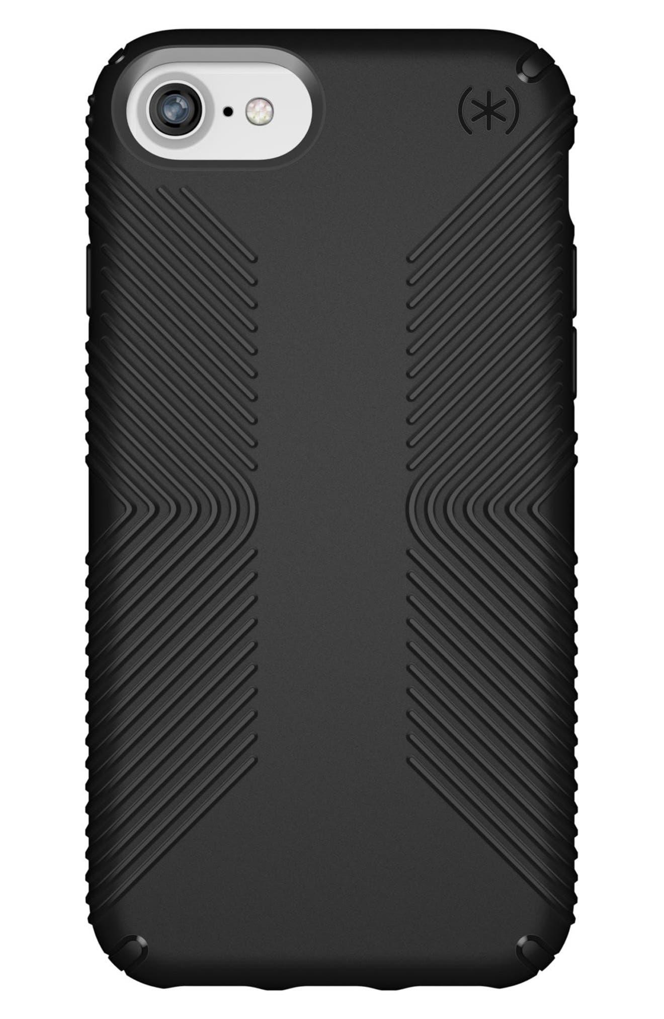 Grip iPhone 6/6s/7/8 Case,                             Main thumbnail 1, color,                             BLACK/ BLACK