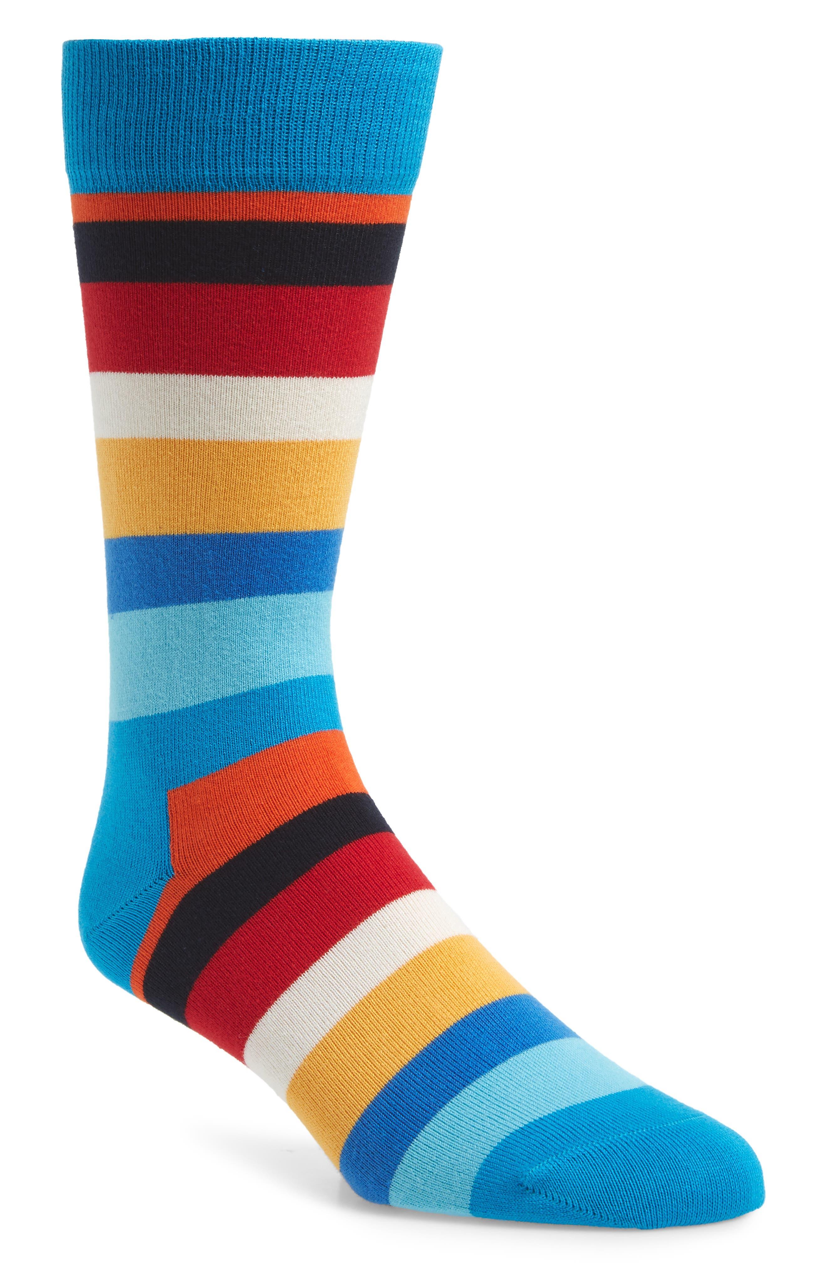 Striped Socks,                         Main,                         color, BLUE MULTI