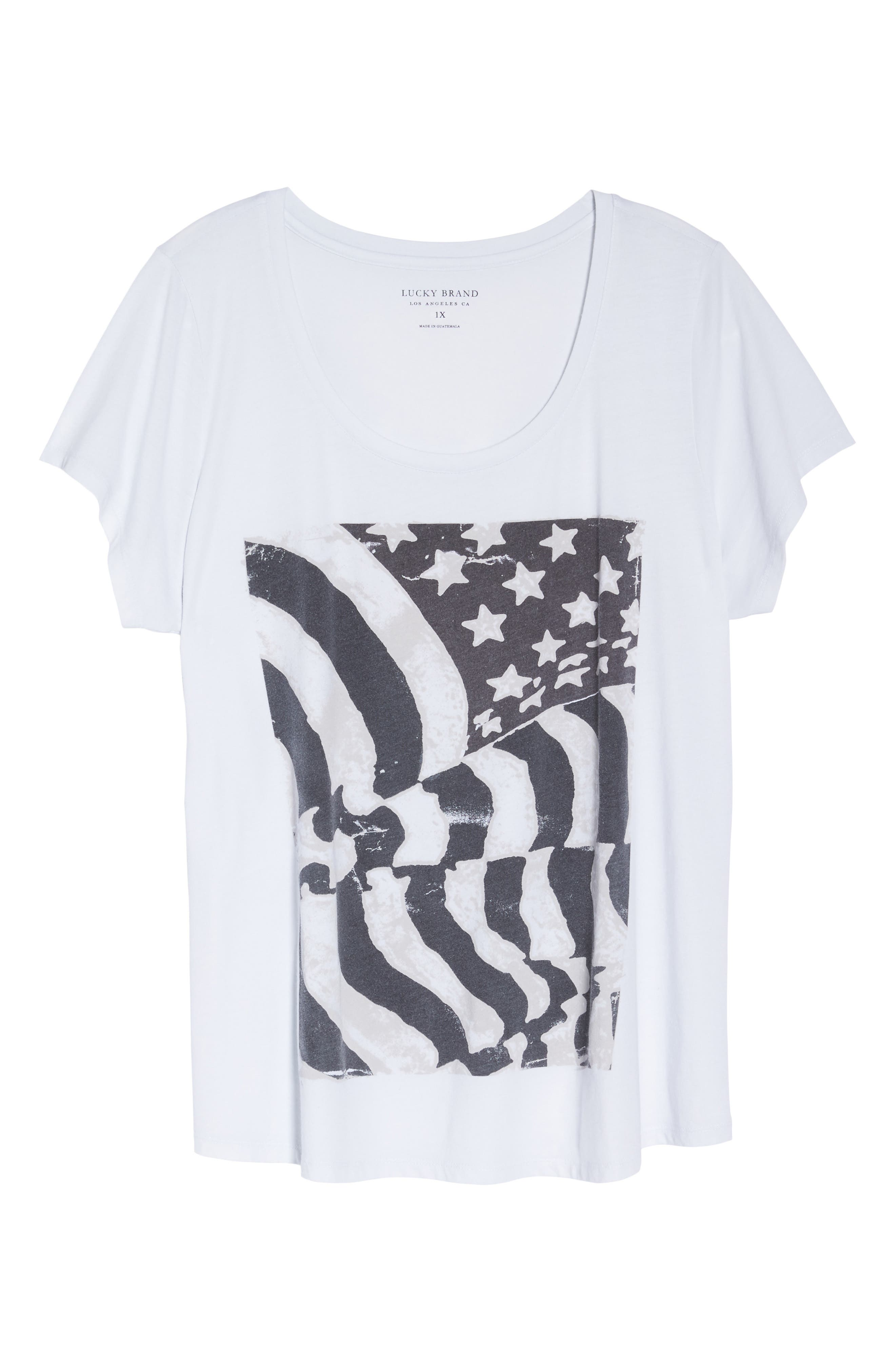 LUCKY BRAND,                             Flag Graphic Tee,                             Alternate thumbnail 7, color,                             002