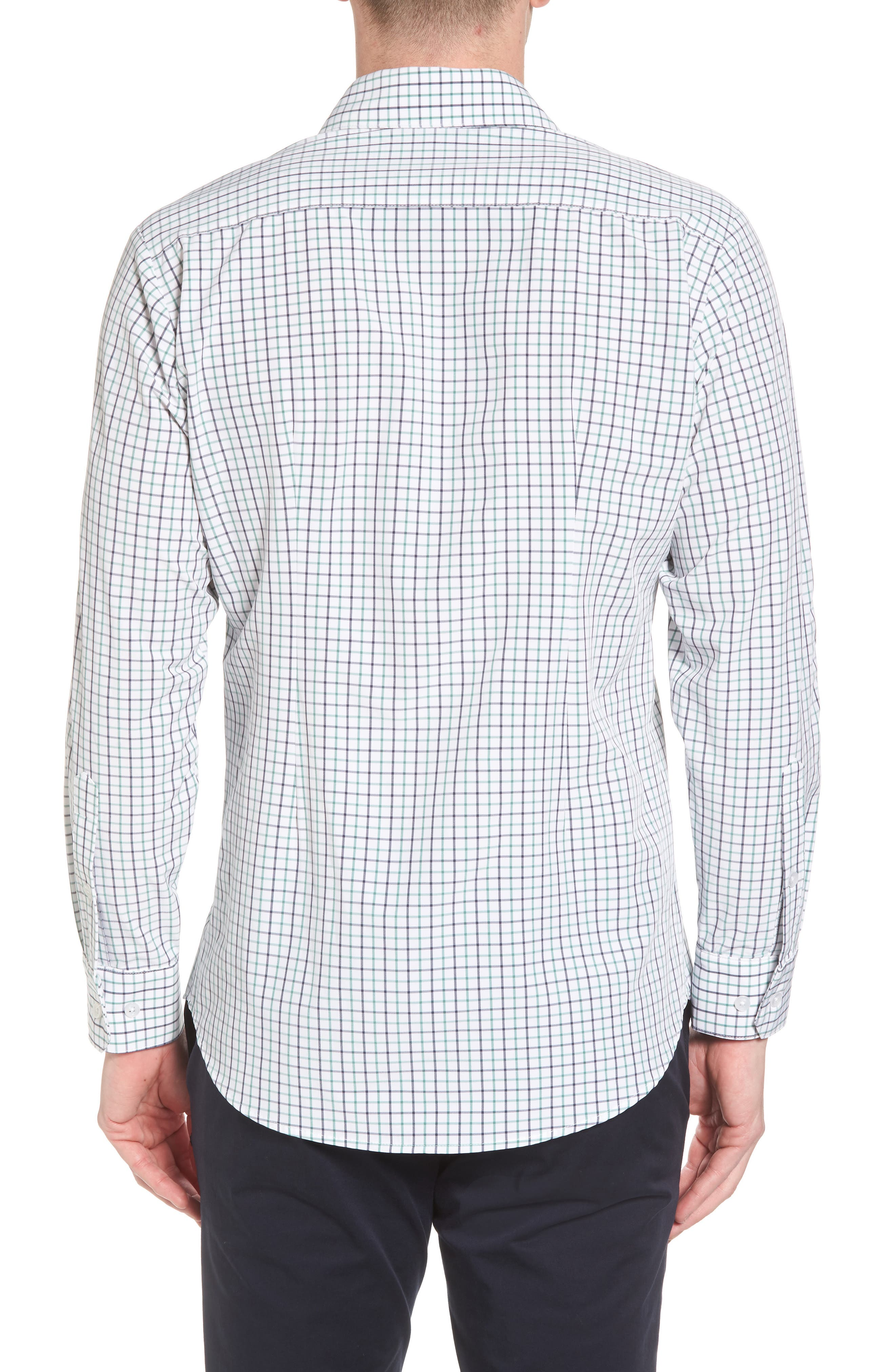 Ellis Slim Fit Tattersall Sport Shirt,                             Alternate thumbnail 2, color,                             360