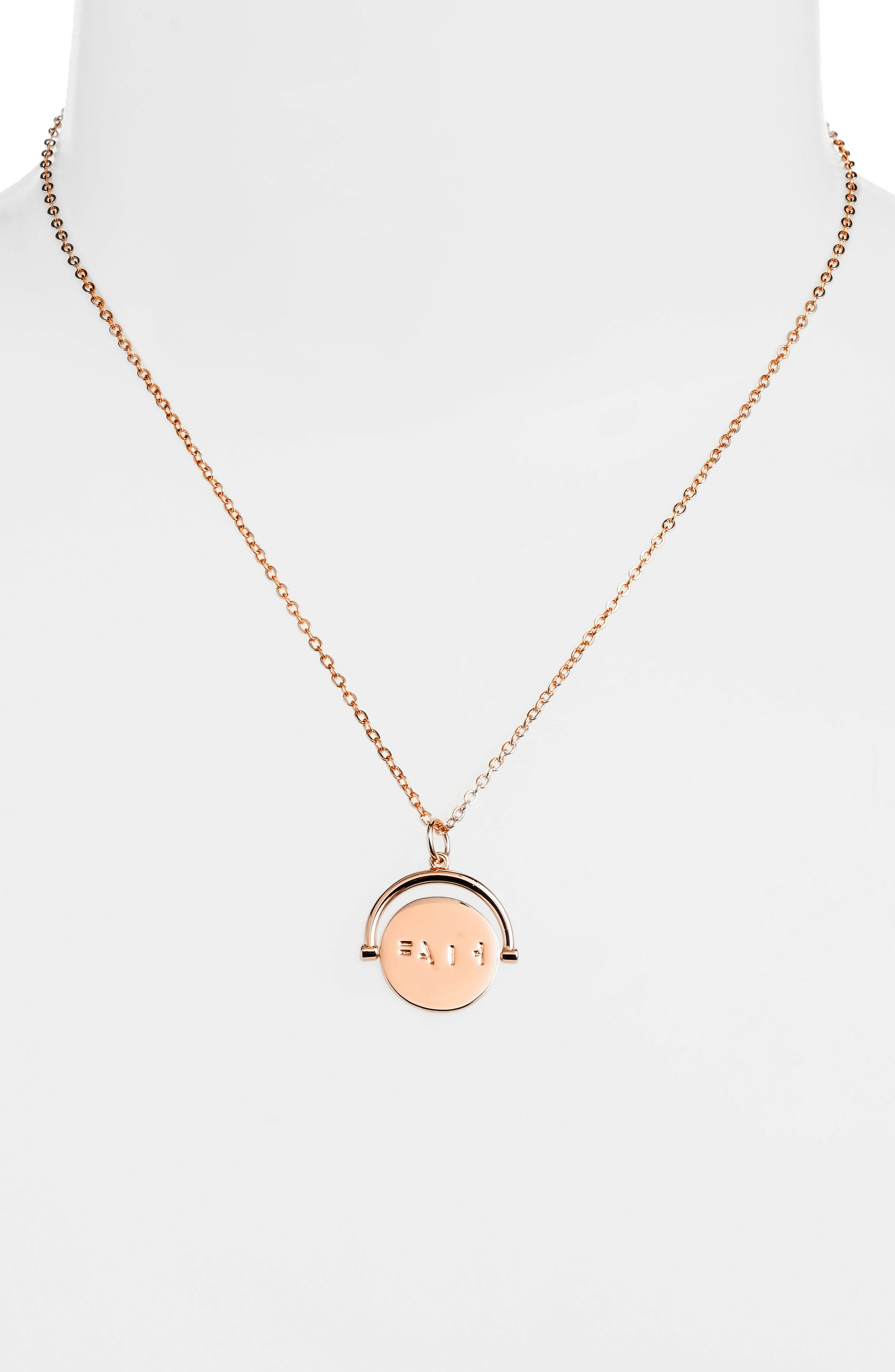 Love Code Spinning Pendant Necklace,                             Alternate thumbnail 14, color,