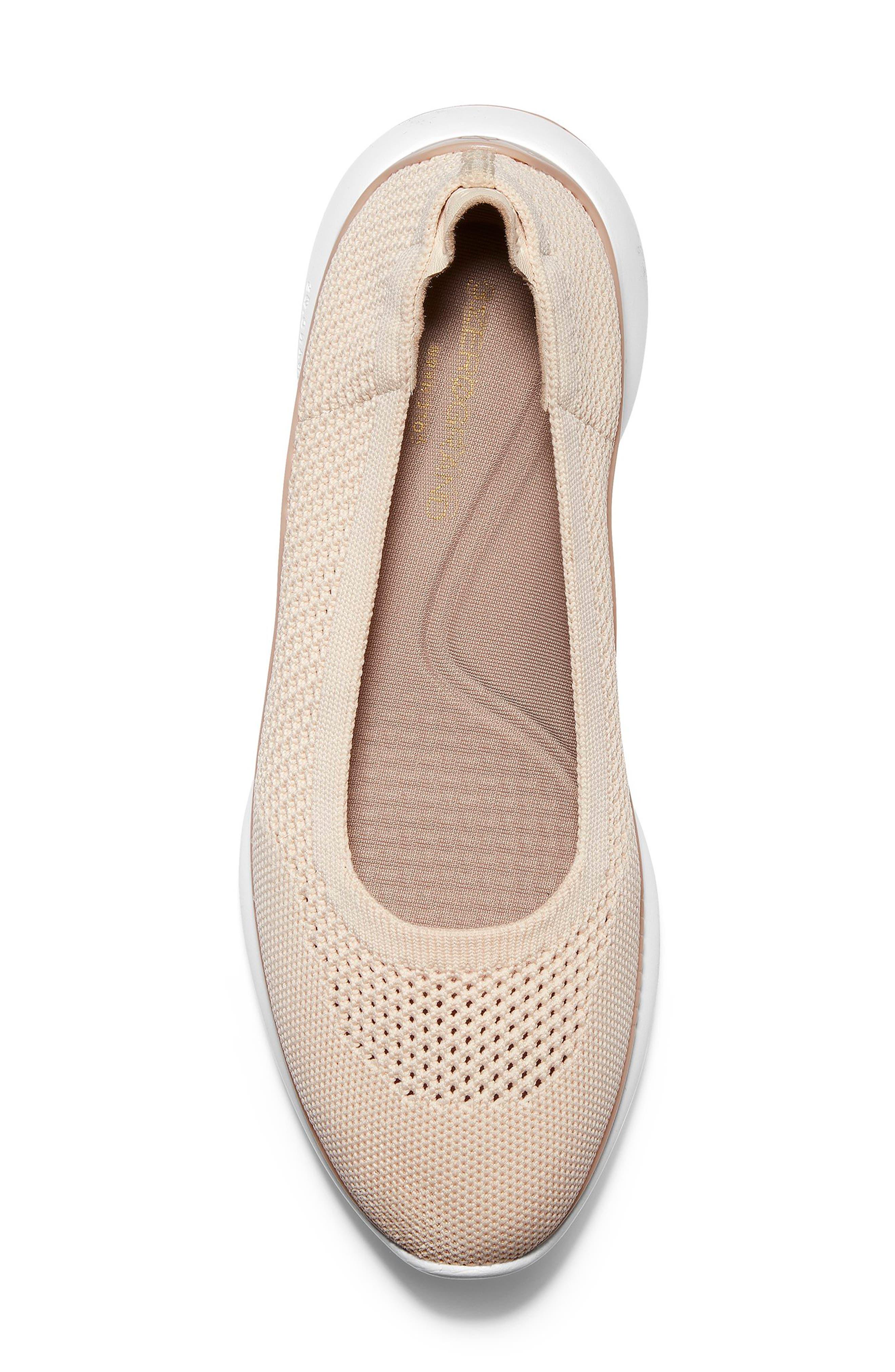 ZeroGrand Knit Sneaker,                             Alternate thumbnail 5, color,                             SAND/ ROSE KNIT/ LEATHER
