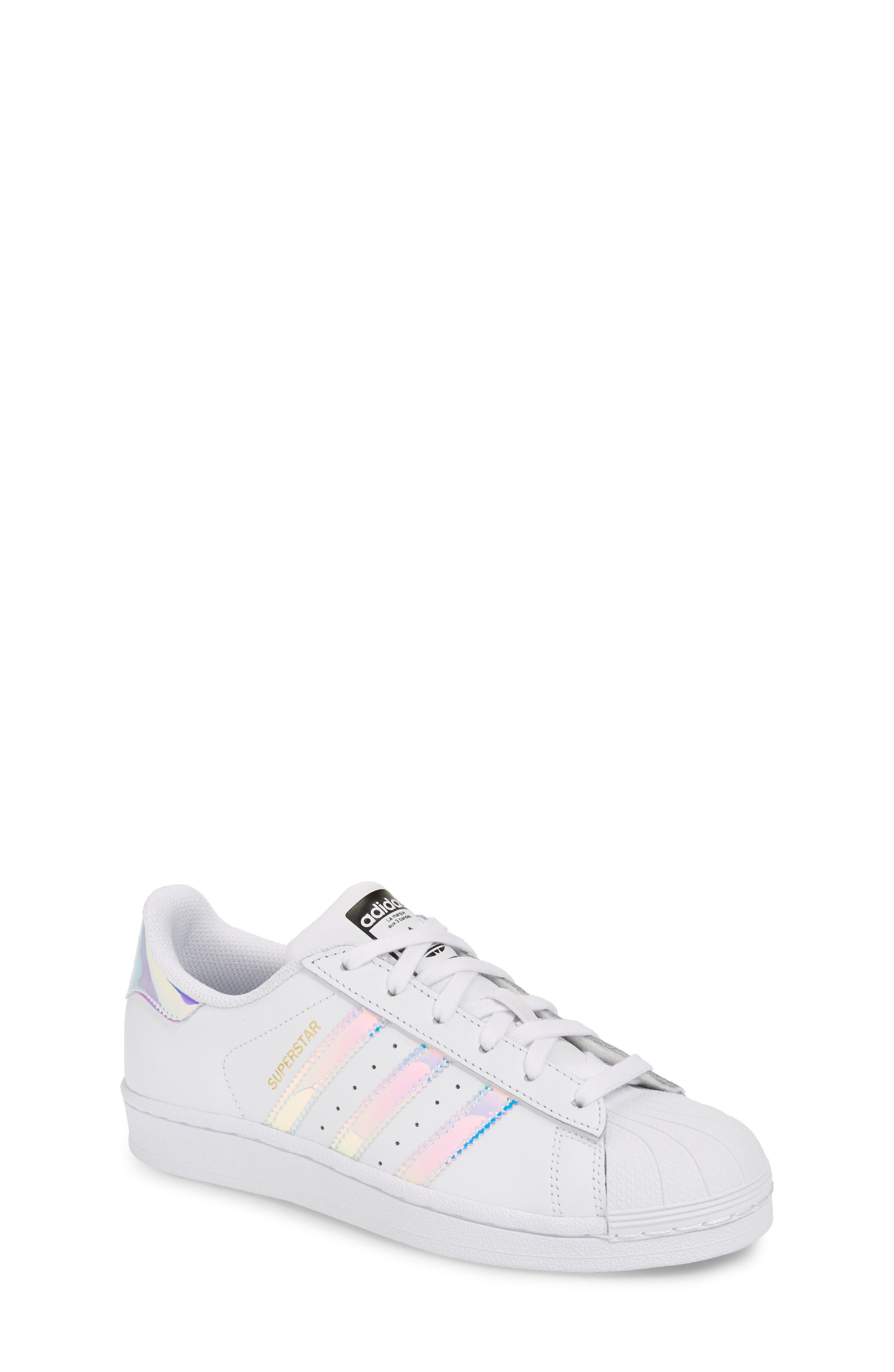 Superstar - Iridescent Sneaker,                             Alternate thumbnail 2, color,                             SILVER METALLIC/ WHITE