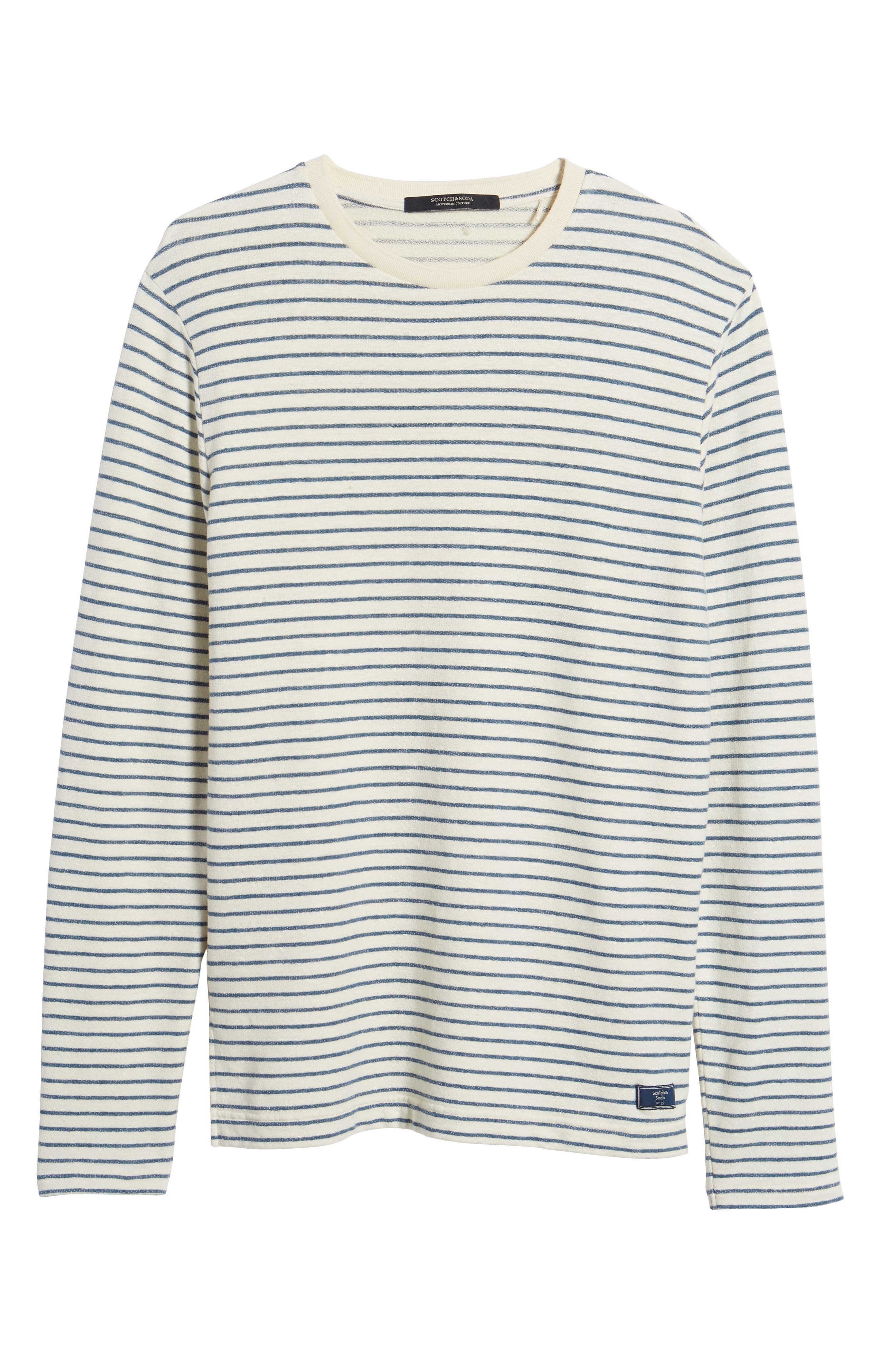 Stripe Crewneck Sweater,                             Alternate thumbnail 6, color,                             250