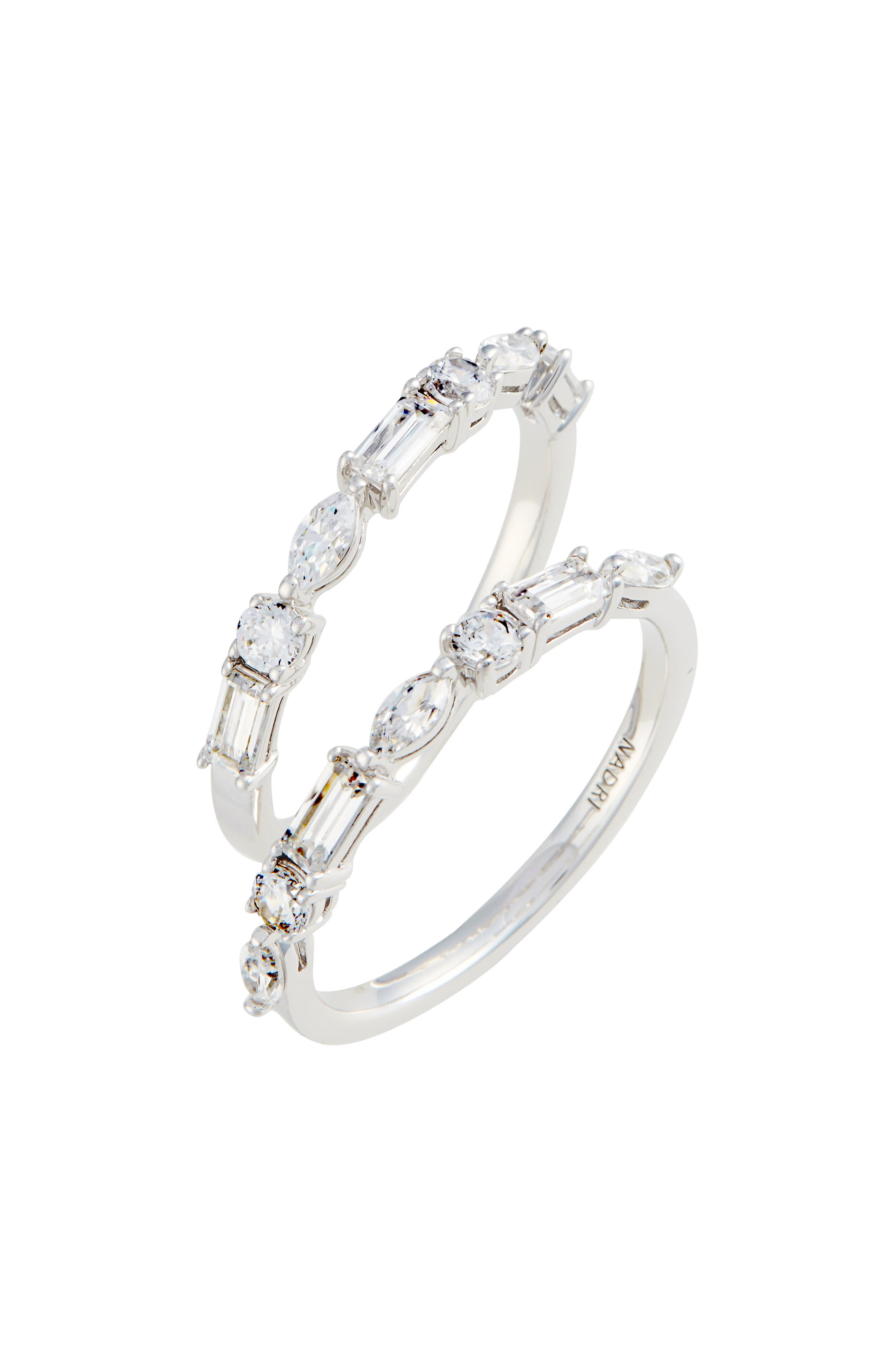 NADRI,                             Fanfare Cubic Zirconia Ring Set,                             Main thumbnail 1, color,                             040
