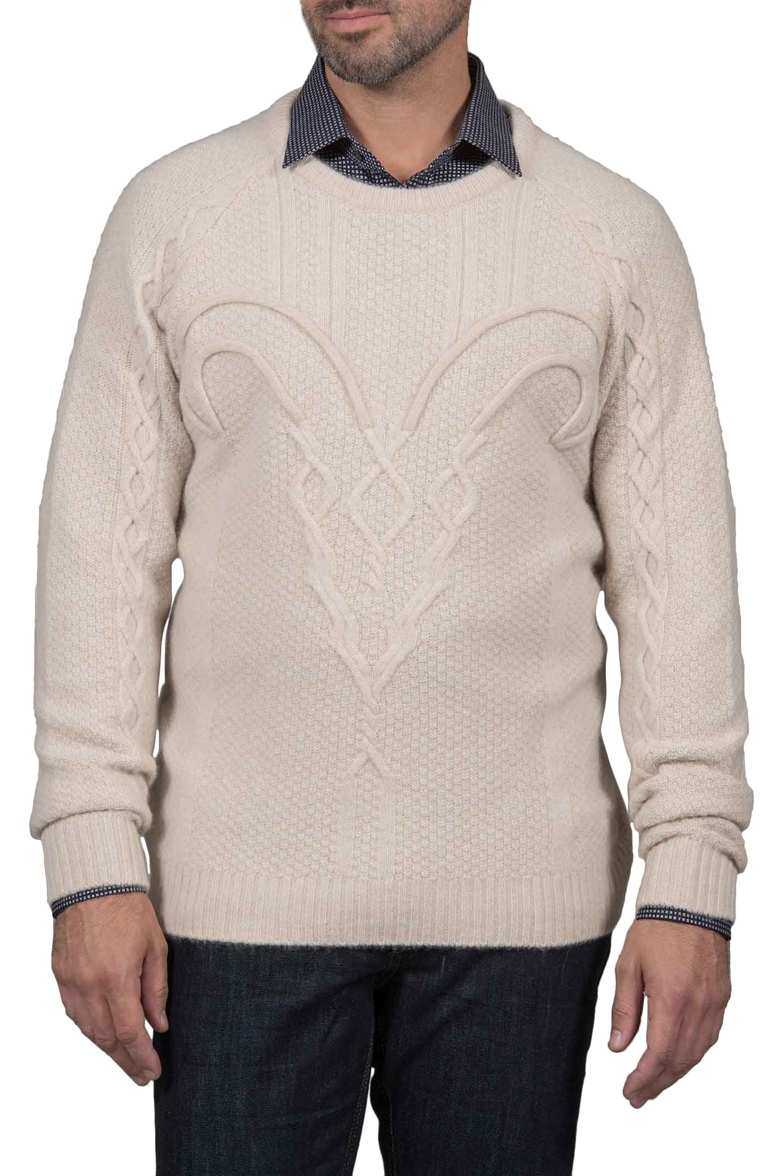 Slim Fit Fortitude Cashmere Sweater,                             Main thumbnail 1, color,                             CREAM