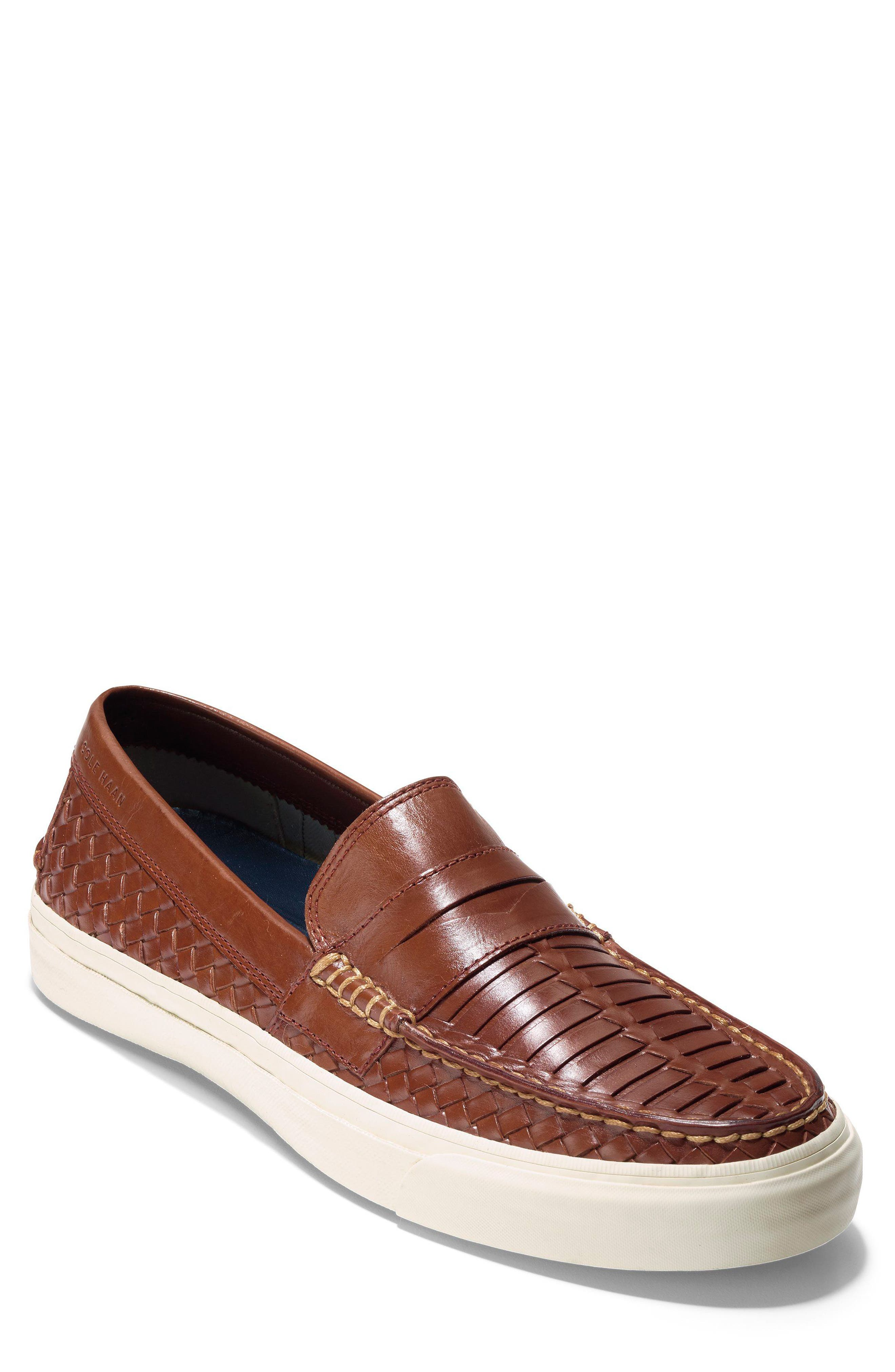 Pinch Weekend LX Huarache Loafer,                         Main,                         color, WOODBURY WOVEN BURNISH