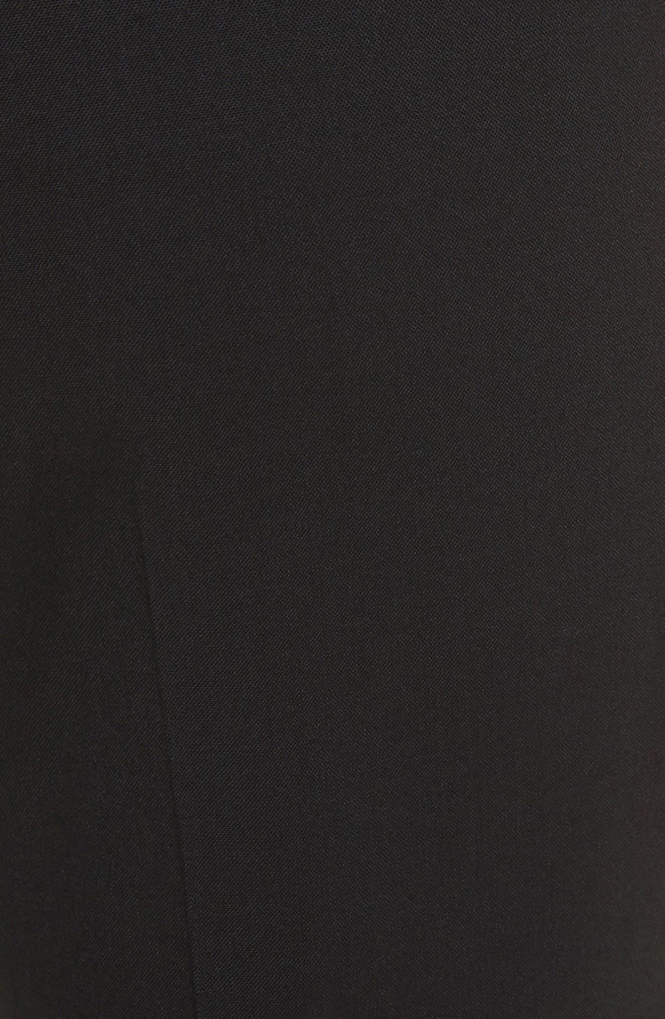 Demetria 2 Flare Leg Good Wool Suit Pants,                             Alternate thumbnail 5, color,                             BLACK