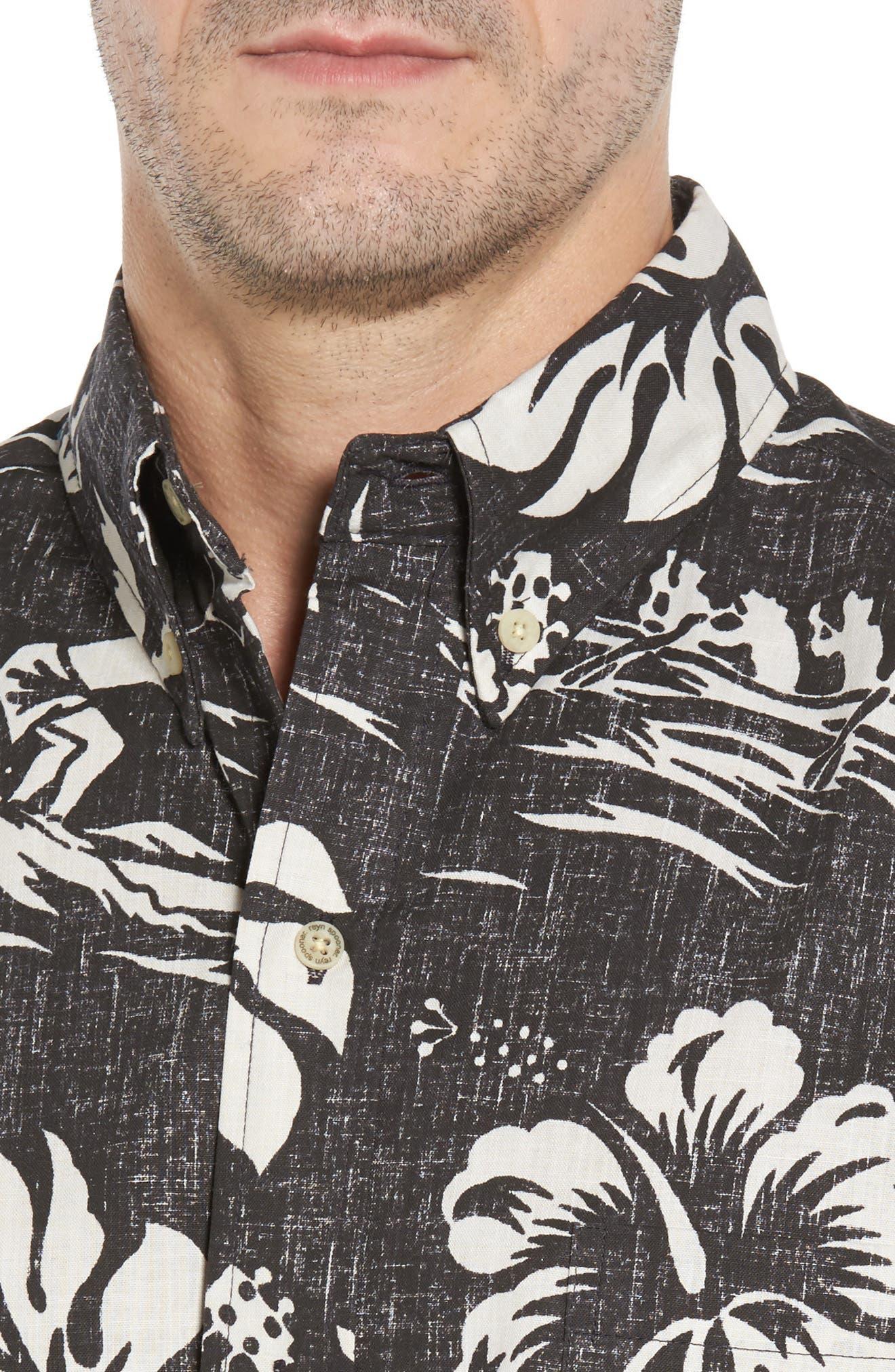 Quiet Lagoon Classic Fit Sport Shirt,                             Alternate thumbnail 4, color,                             010