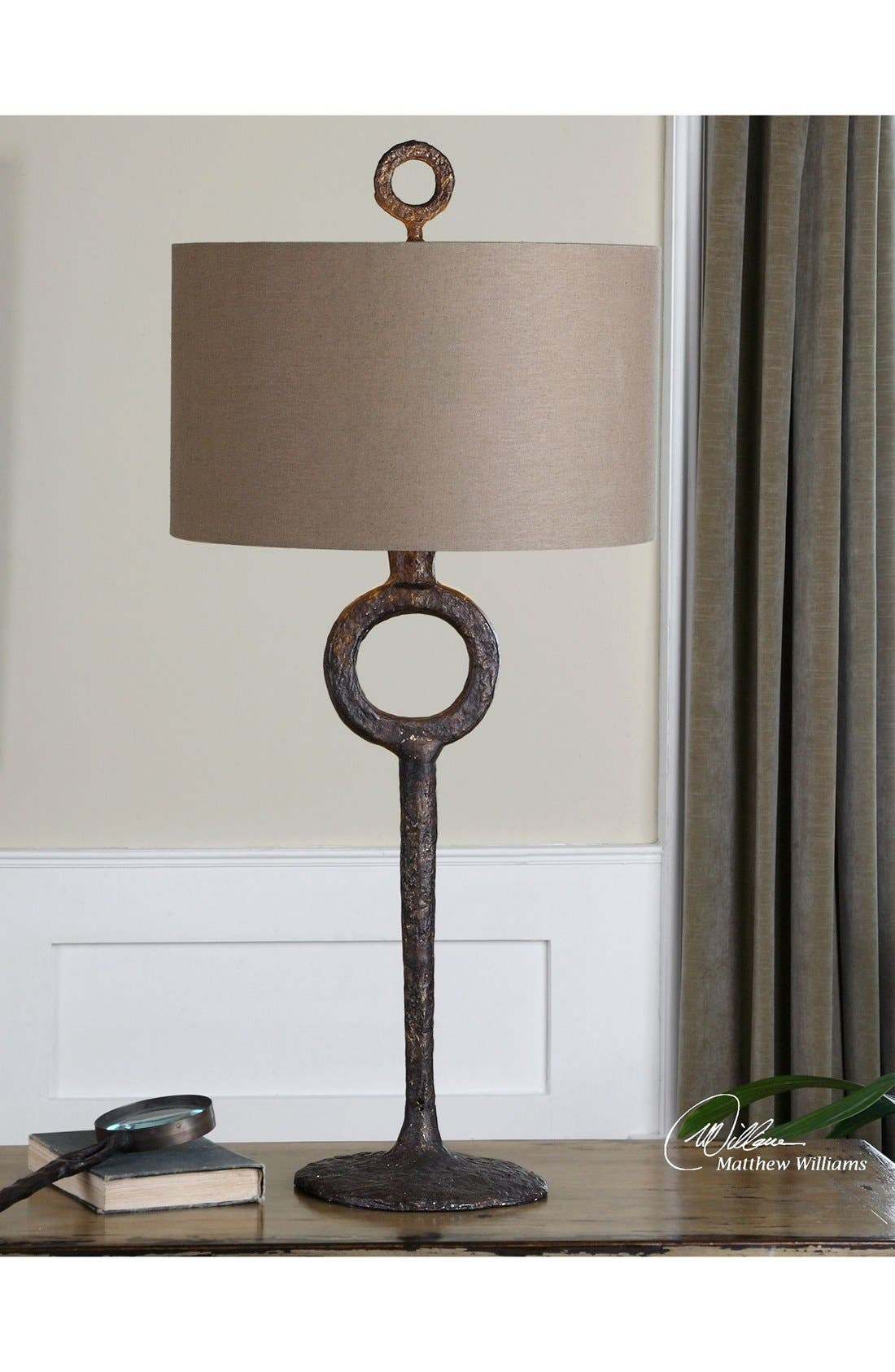 'Ferro' Cast Iron Table Lamp,                             Alternate thumbnail 2, color,                             200