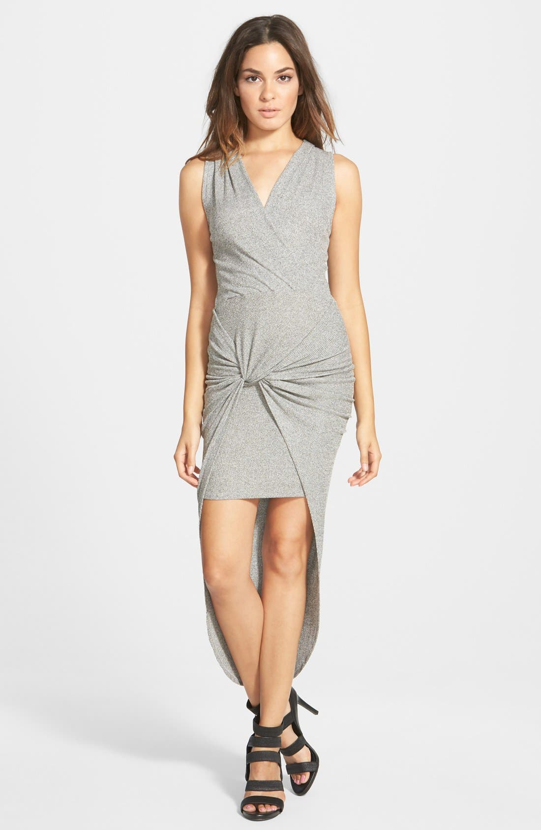 LEITH,                             Knot Front High/Low Dress,                             Main thumbnail 1, color,                             030