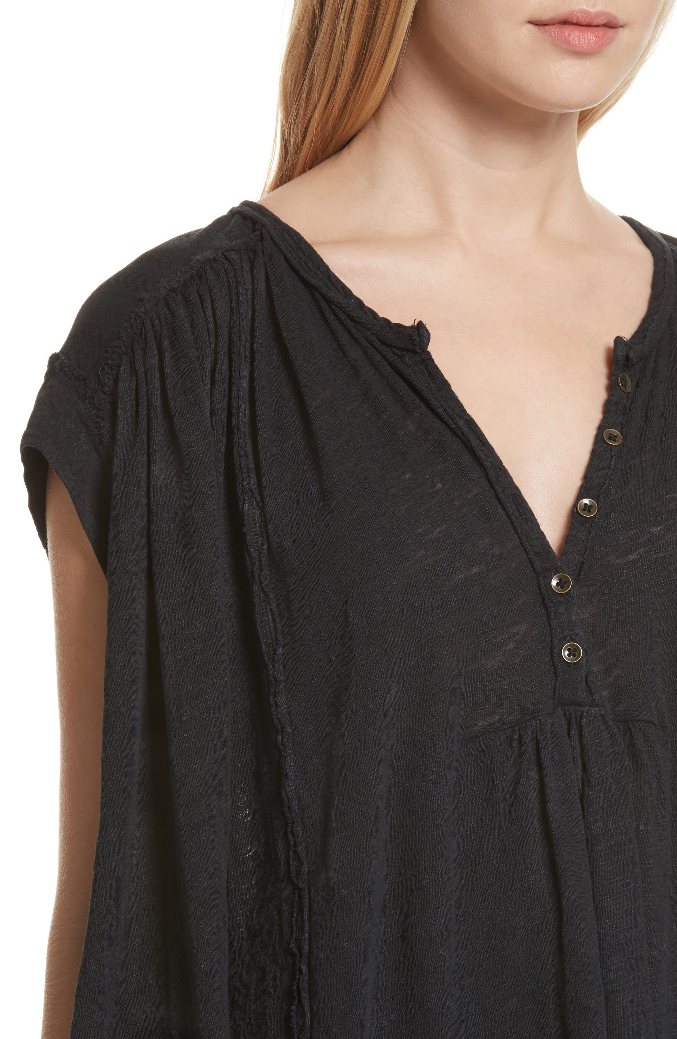 We the Free by Free People Aster Henley Top,                             Alternate thumbnail 4, color,                             001