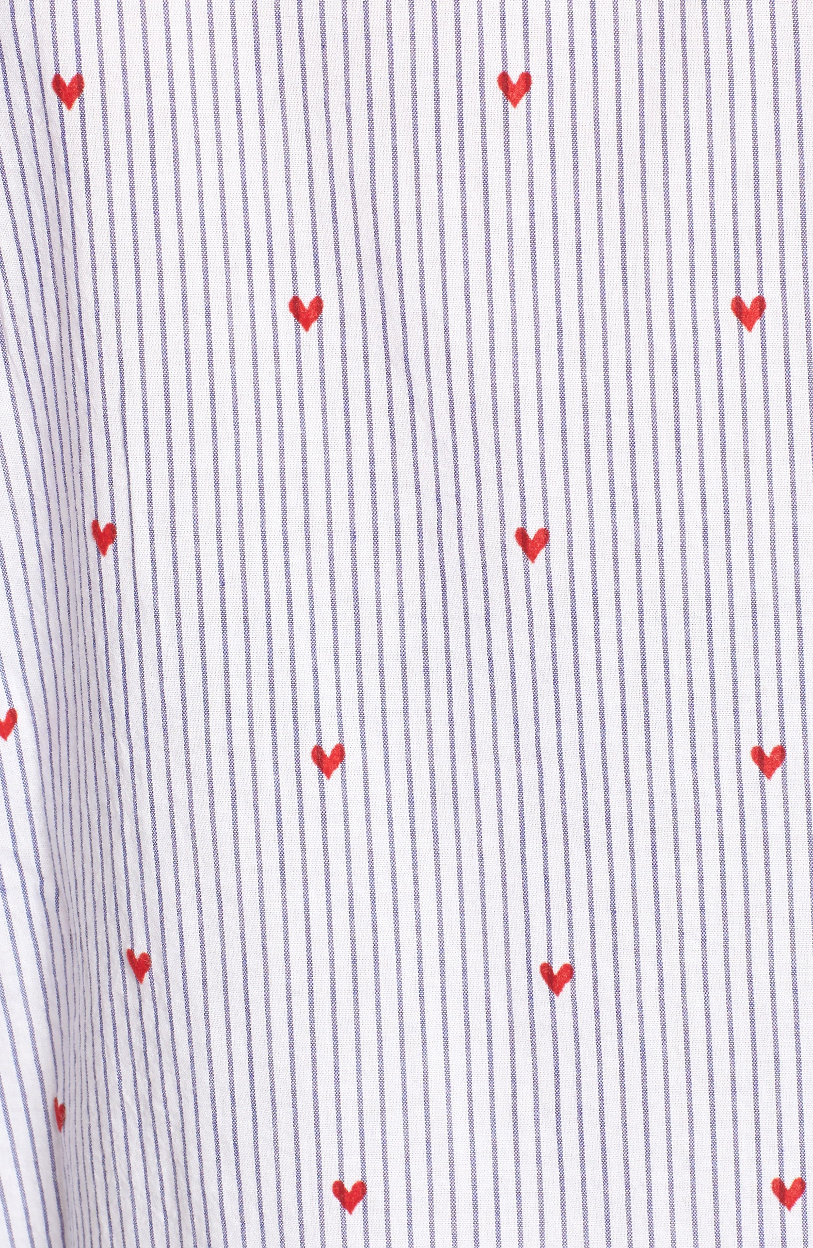 Taylor Heart Stripe Shirt,                             Alternate thumbnail 5, color,                             400