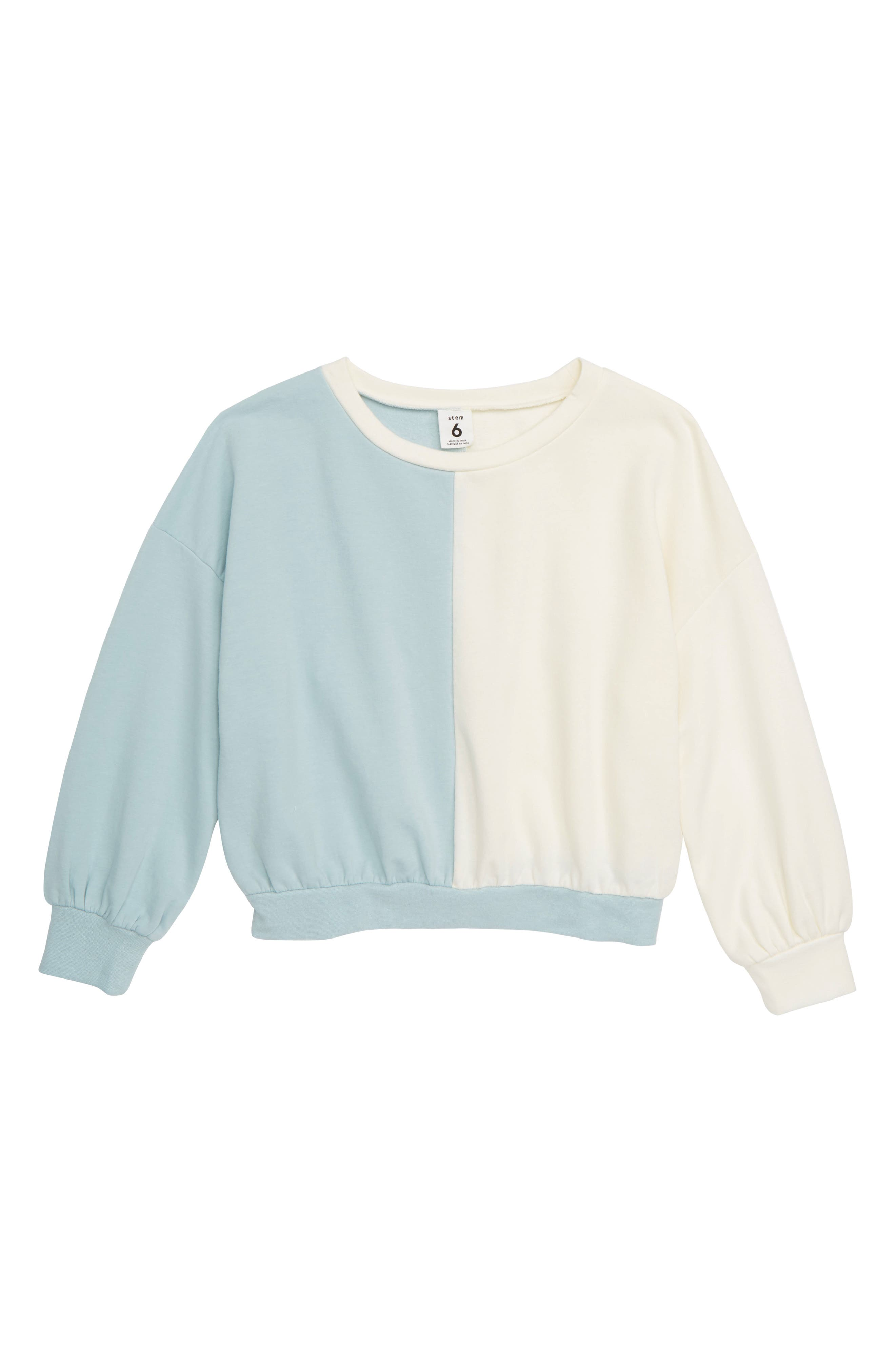 STEM,                             Colorblock Sweatshirt,                             Main thumbnail 1, color,                             450